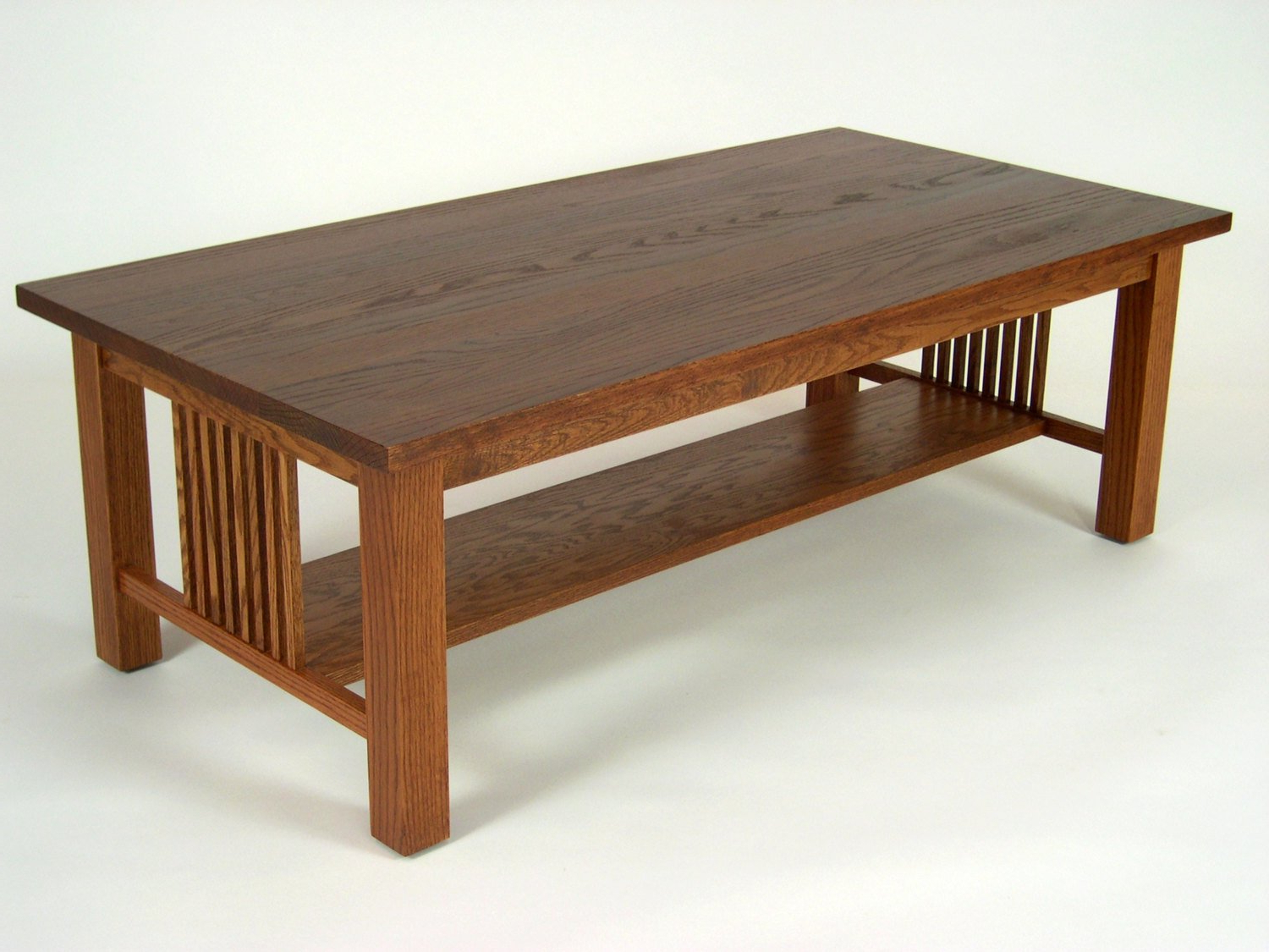 Preferred Mission Oak Arts & Crafts Stickley Style Coffee Cocktail Table (Gallery 12 of 20)