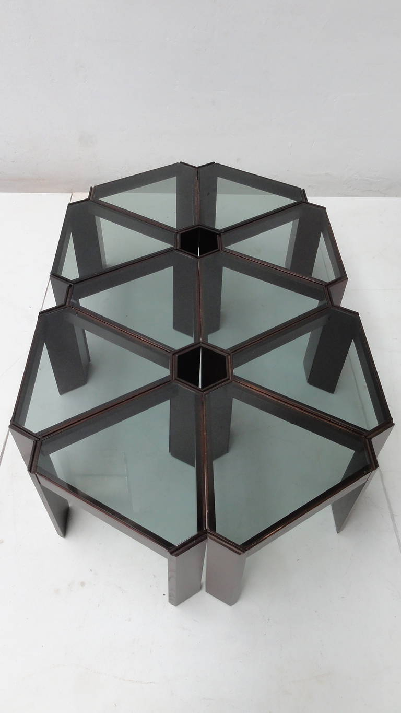 Preferred Modular Coffee Tables In Amazing 1970s Geometric Modular Coffee Table Or Display, Ten Pieces (View 2 of 20)