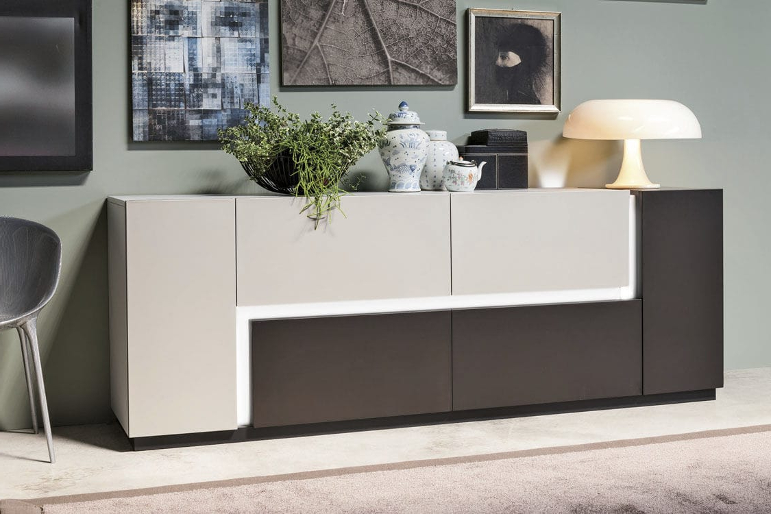 Preferred Rossi Large Sideboards Regarding Contemporary Sideboard / Aluminum / Lacquered Aluminum / With Shelf (View 11 of 20)