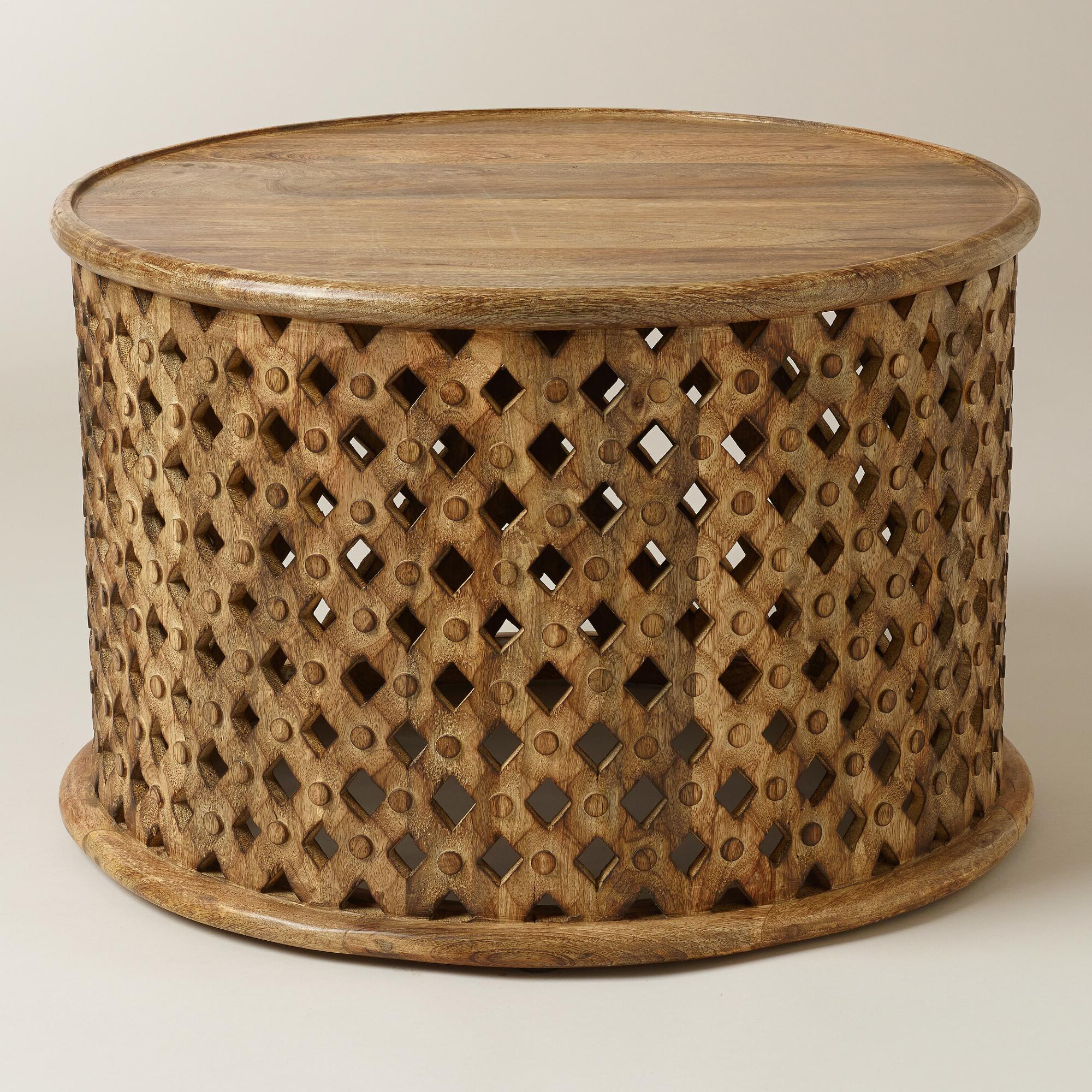 Preferred Round Carved Wood Coffee Table – Coffee Table Ideas Regarding Round Carved Wood Coffee Tables (View 15 of 20)