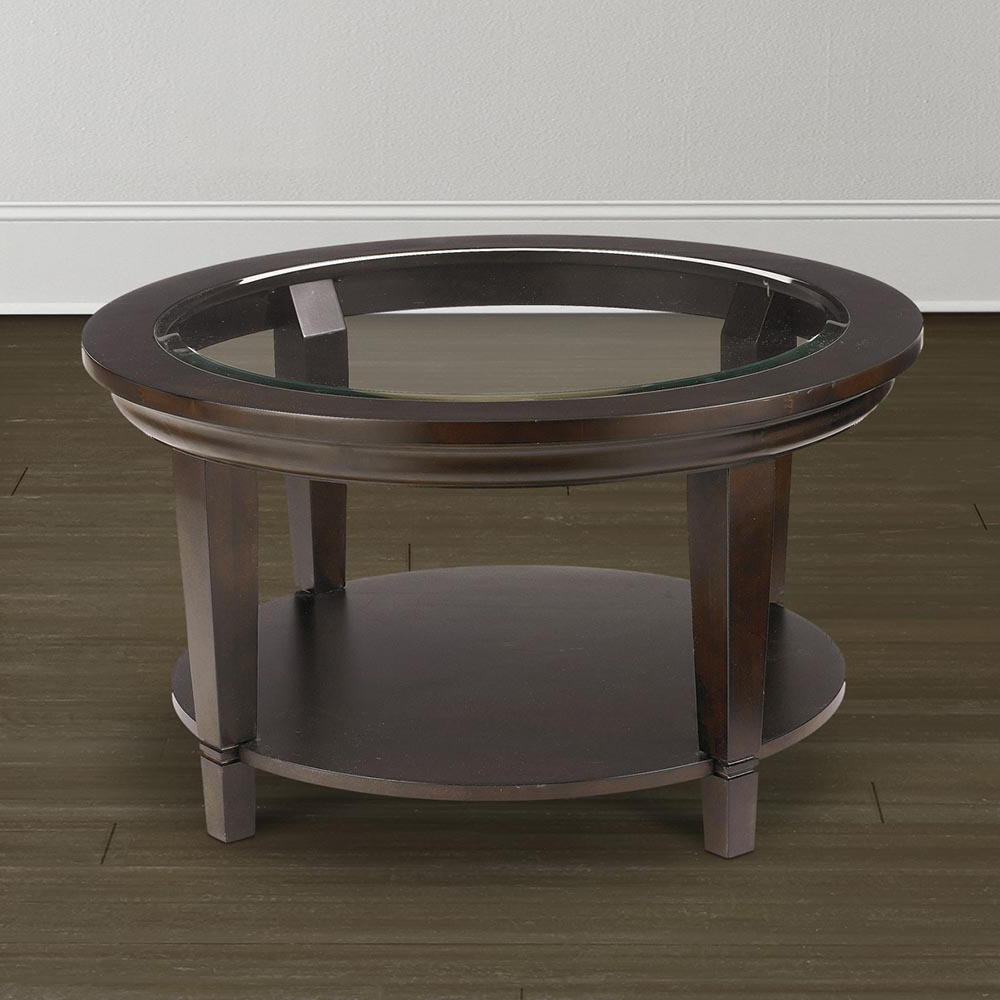 Preferred Torrin Round Cocktail Tables With Round Glass Coffee Table Furnitureteams (View 15 of 20)