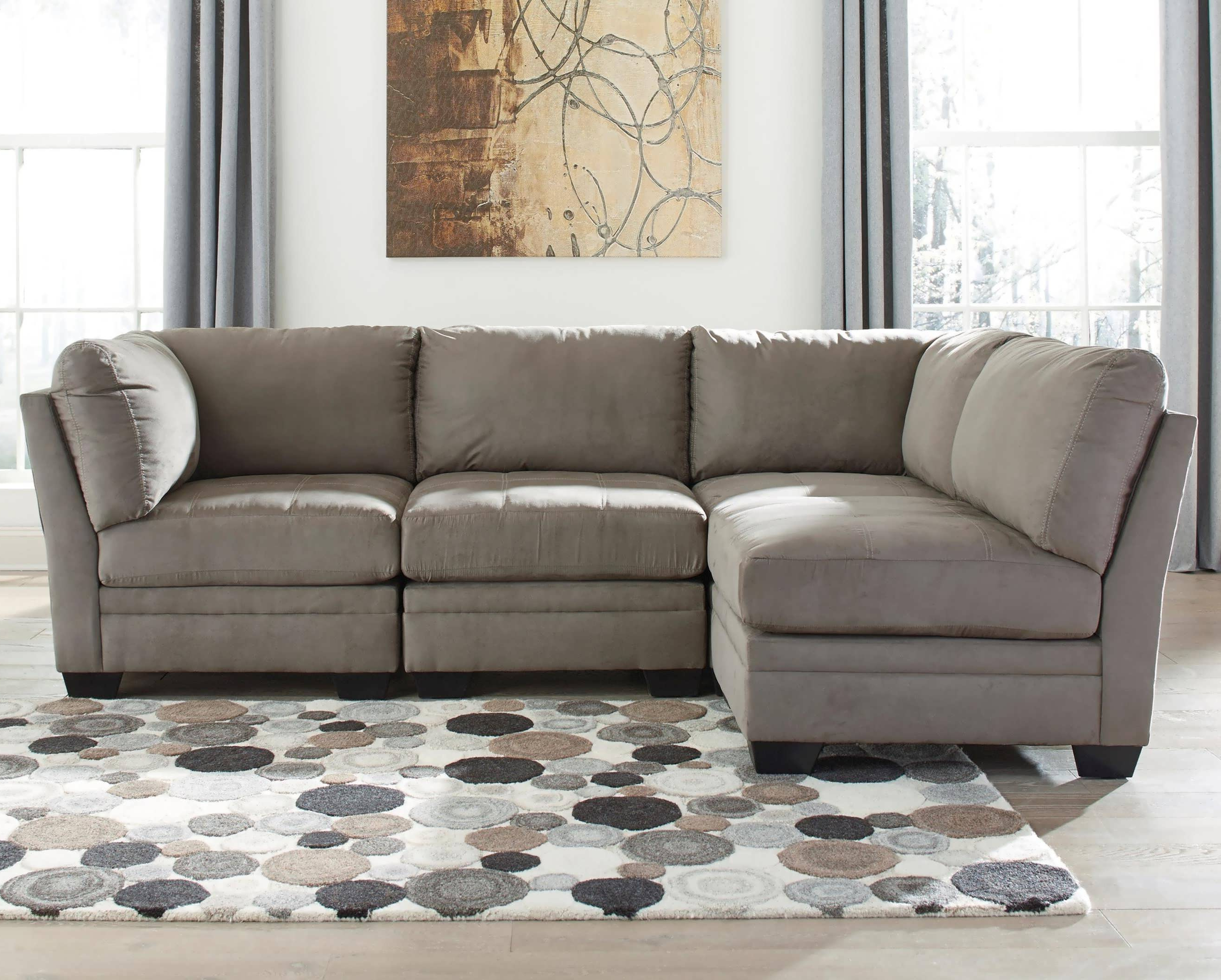 Preferred Two Piece Sectional Sofa Covers Everest With And Chaises Ashley With Regard To Meyer 3 Piece Sectionals With Laf Chaise (View 13 of 20)