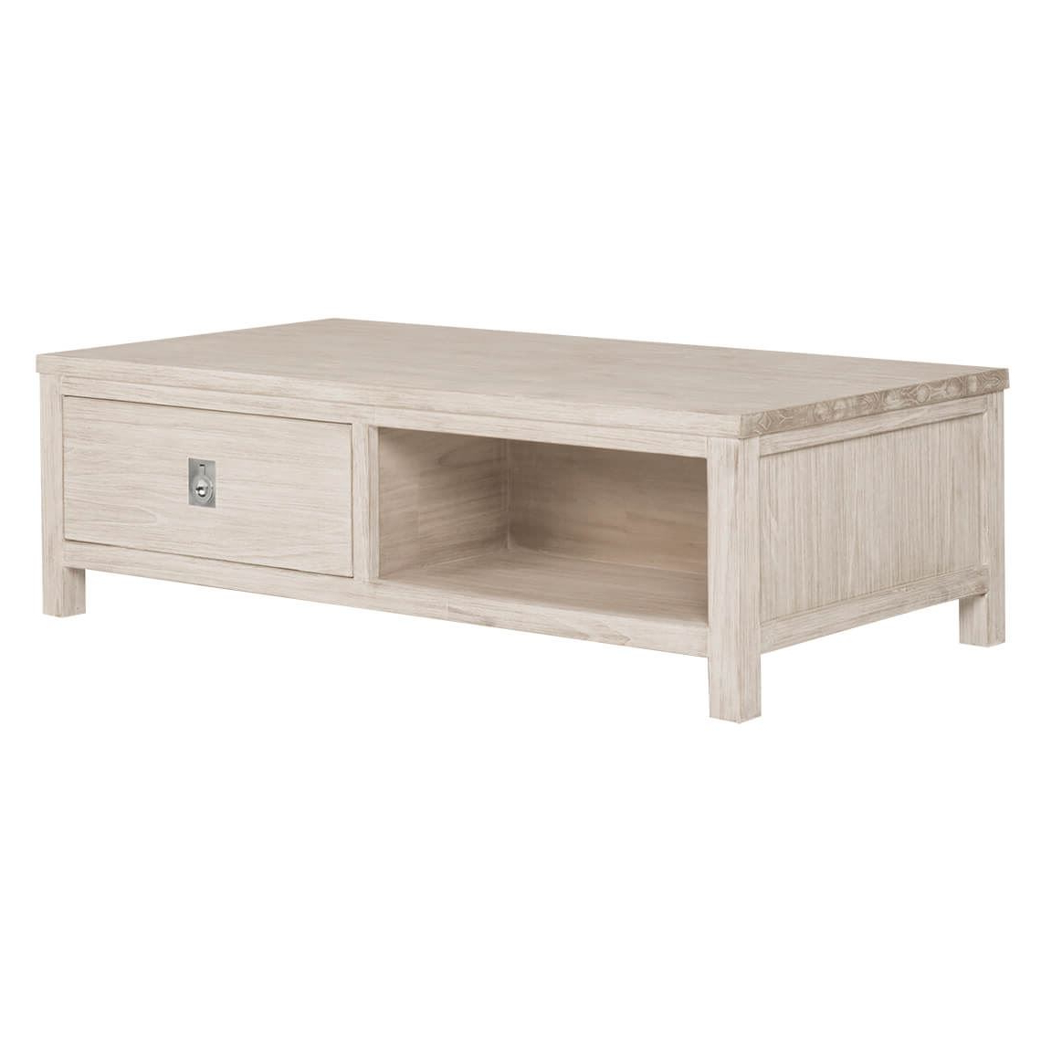 Preferred White Wash 2 Drawer/1 Door Coffee Tables Intended For Cancun Coffee (Gallery 9 of 20)