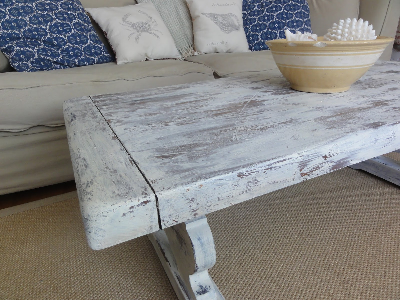 Probably Terrific Best Of The Best Rustic Teal End Table Pictures Throughout Preferred Limewash Coffee Tables (View 11 of 20)