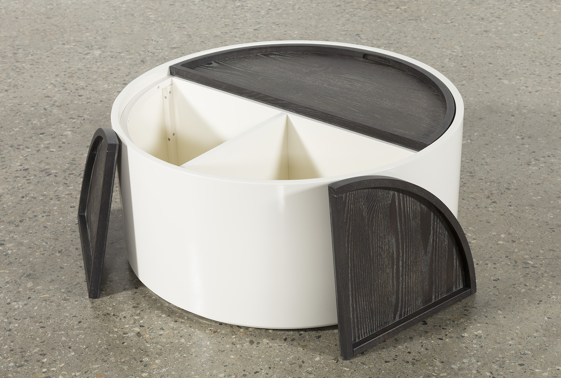 Featured Photo of Bale Rustic Grey Round Cocktail Tables With Storage