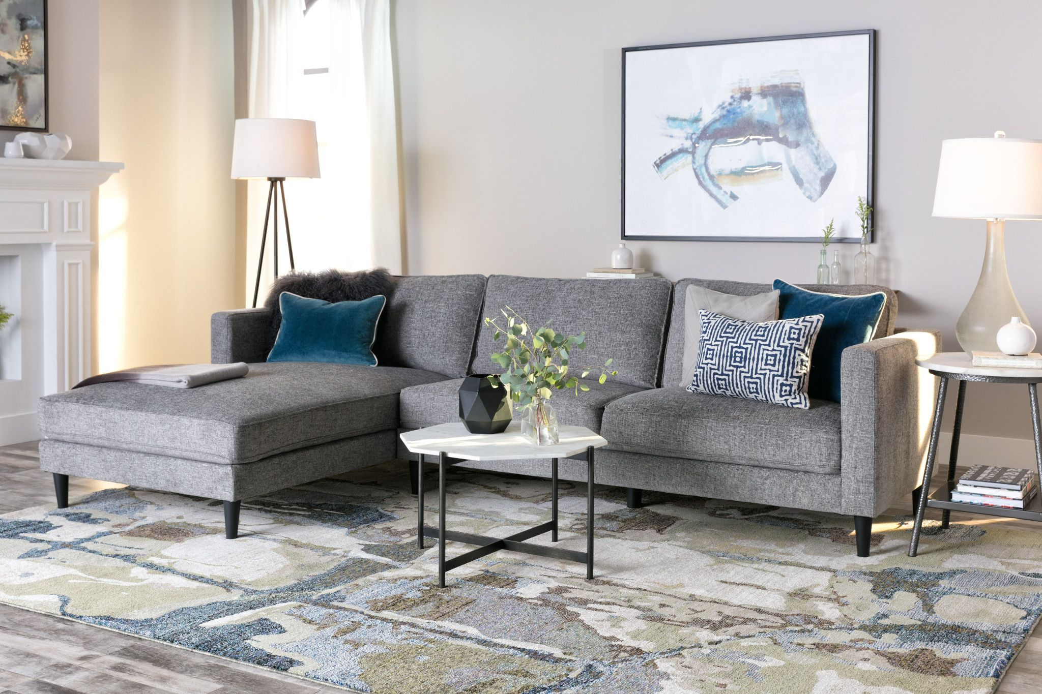 Products For Cosmos Grey 2 Piece Sectionals With Laf Chaise (View 14 of 20)