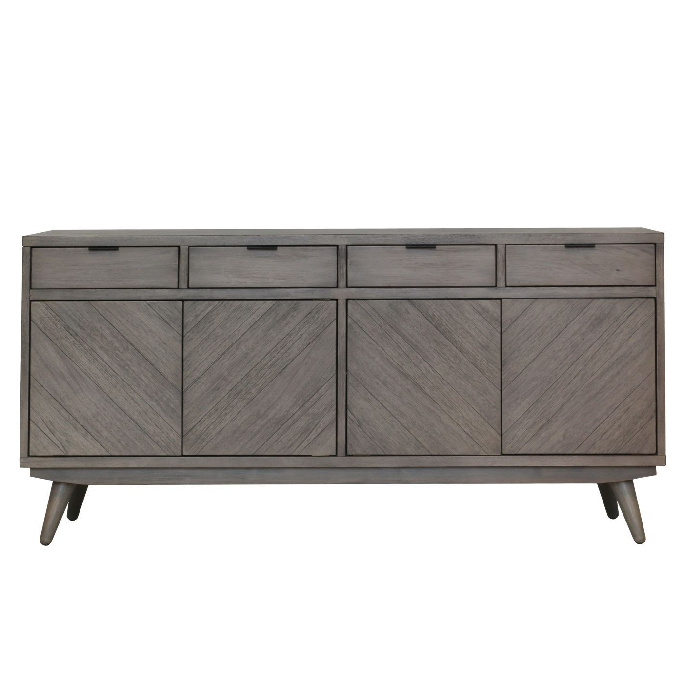 Featured Photo of Brown Chevron 4 Door Sideboards