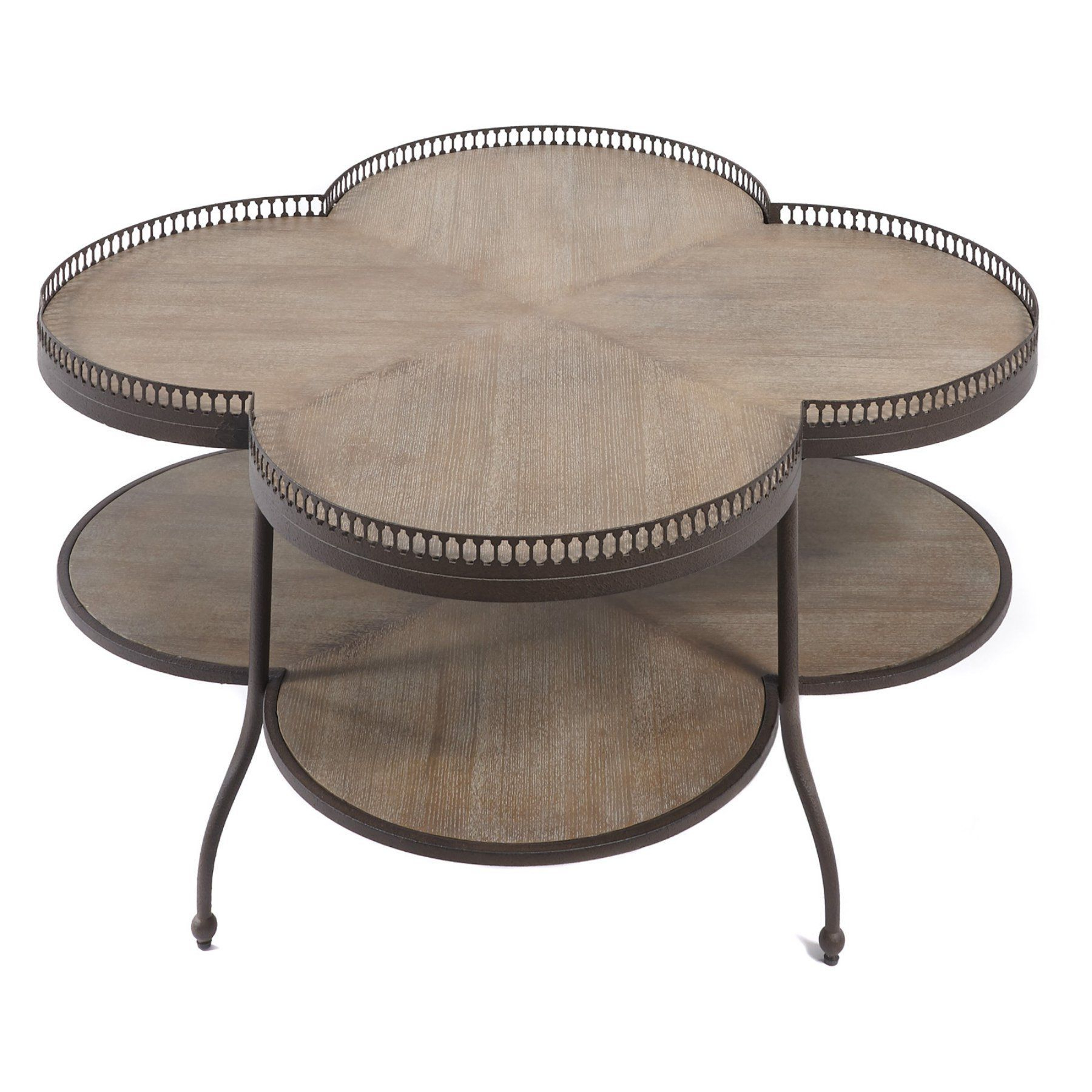Progressive Furniture Clementine Scalloped Coffee Table – A186 39 For Preferred Cuff Hammered Gold Coffee Tables (View 10 of 20)