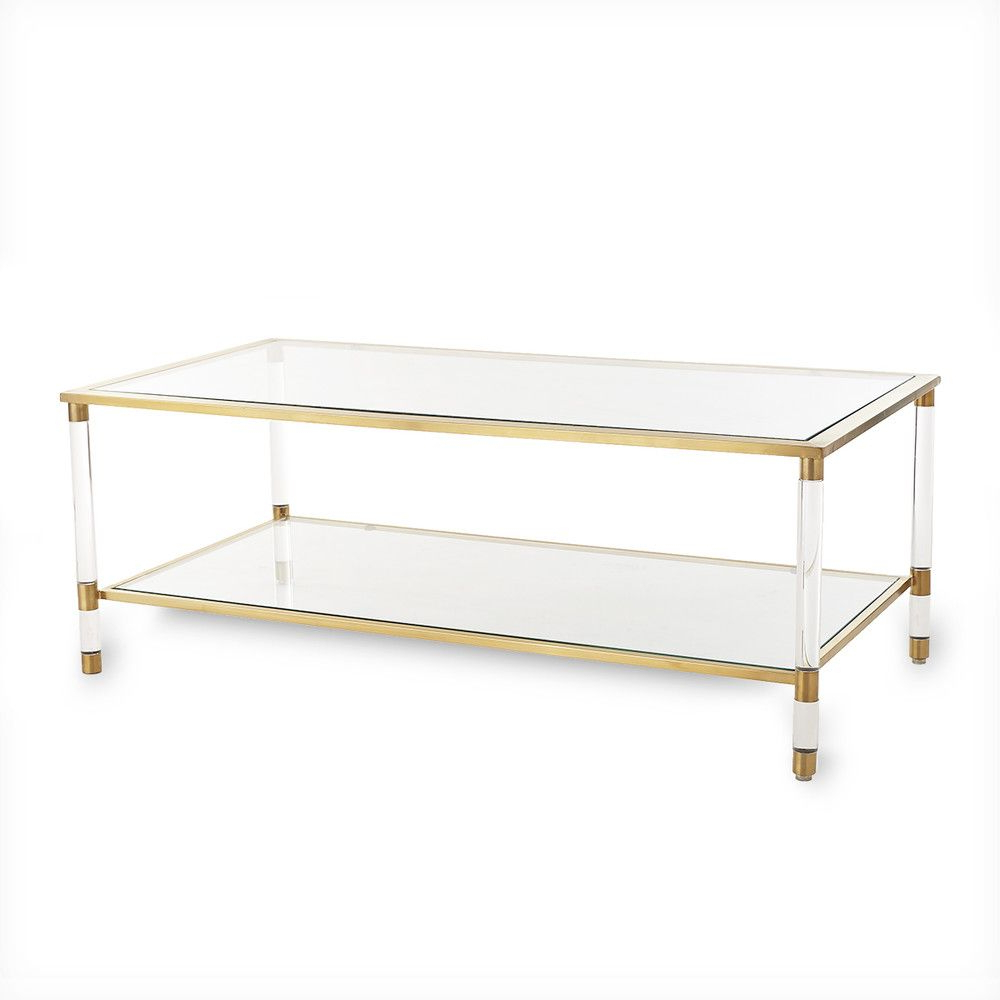 Project: Hl In La In Trendy Acrylic Glass And Brass Coffee Tables (Gallery 3 of 20)