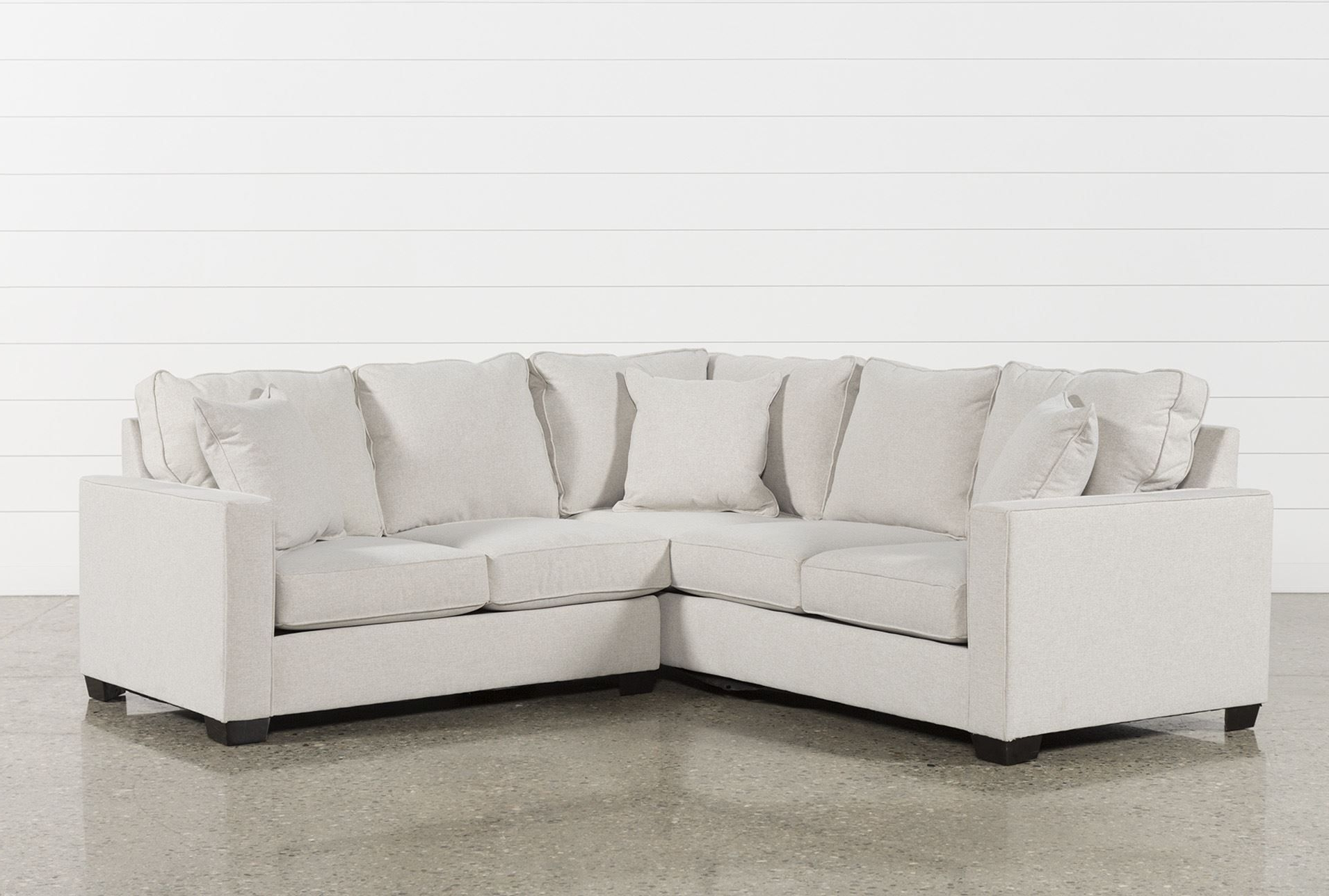 Raphael Ii Flax 2 Piece Sectionalw/raf Loveseat, Beige, Sofas Inside Popular Marissa Ii 3 Piece Sectionals (Gallery 7 of 20)