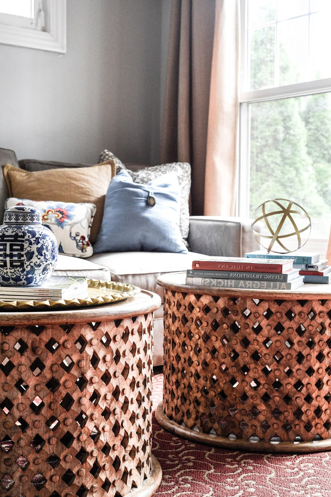 Recent Carved Wood Tribal Coffee Tables – Home With Keki Throughout Round Carved Wood Coffee Tables (View 16 of 20)
