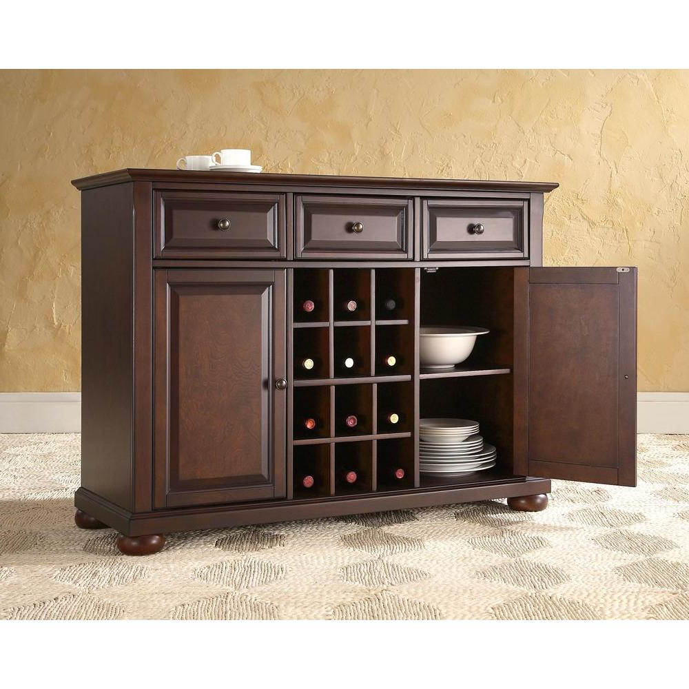 Recent Crosley Alexandria Mahogany Buffet Kf42001ama – The Home Depot In Amos Buffet Sideboards (View 3 of 20)