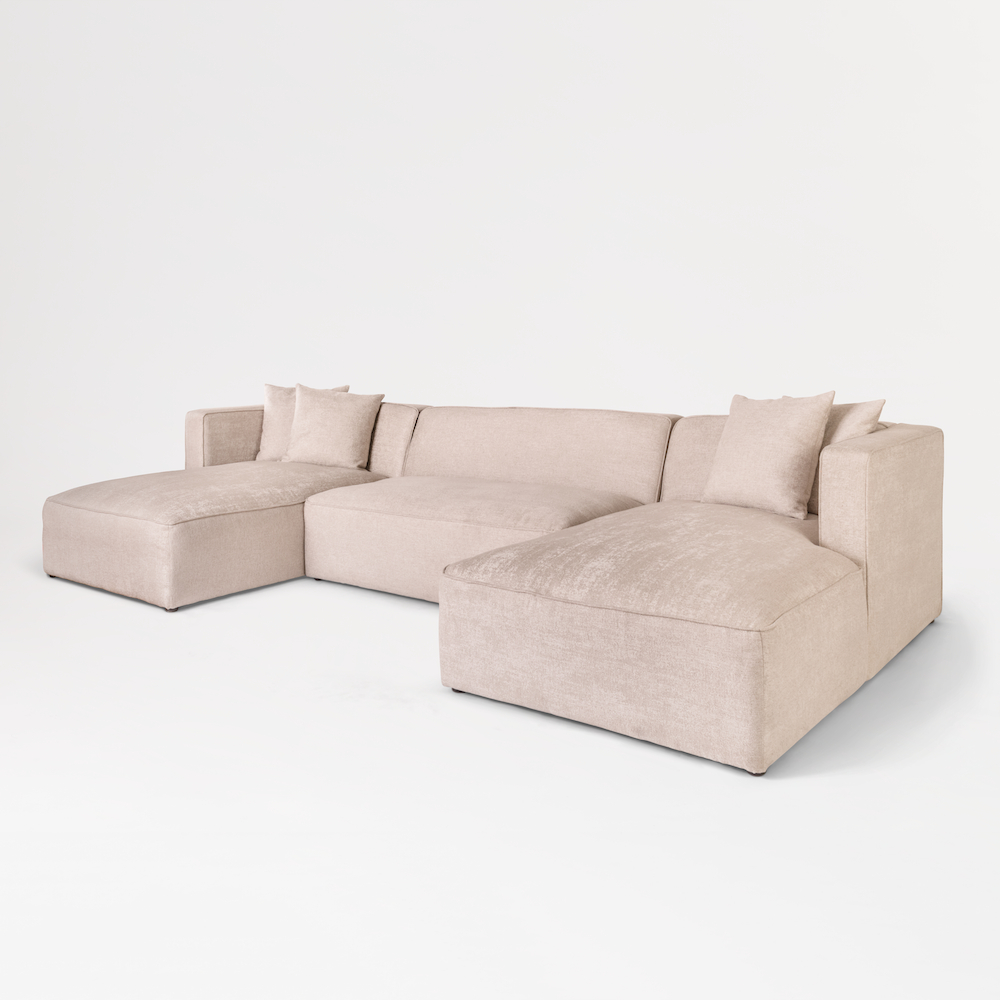 Recent Haven U Shape Sectional – Alder & Tweed Furniture Within Haven 3 Piece Sectionals (View 12 of 20)