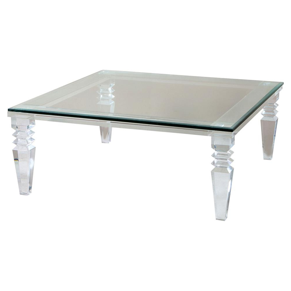 Recent Interlude Savannah Modern Classic Square Crystal Cut Acrylic Coffee For Modern Acrylic Coffee Tables (Gallery 4 of 20)