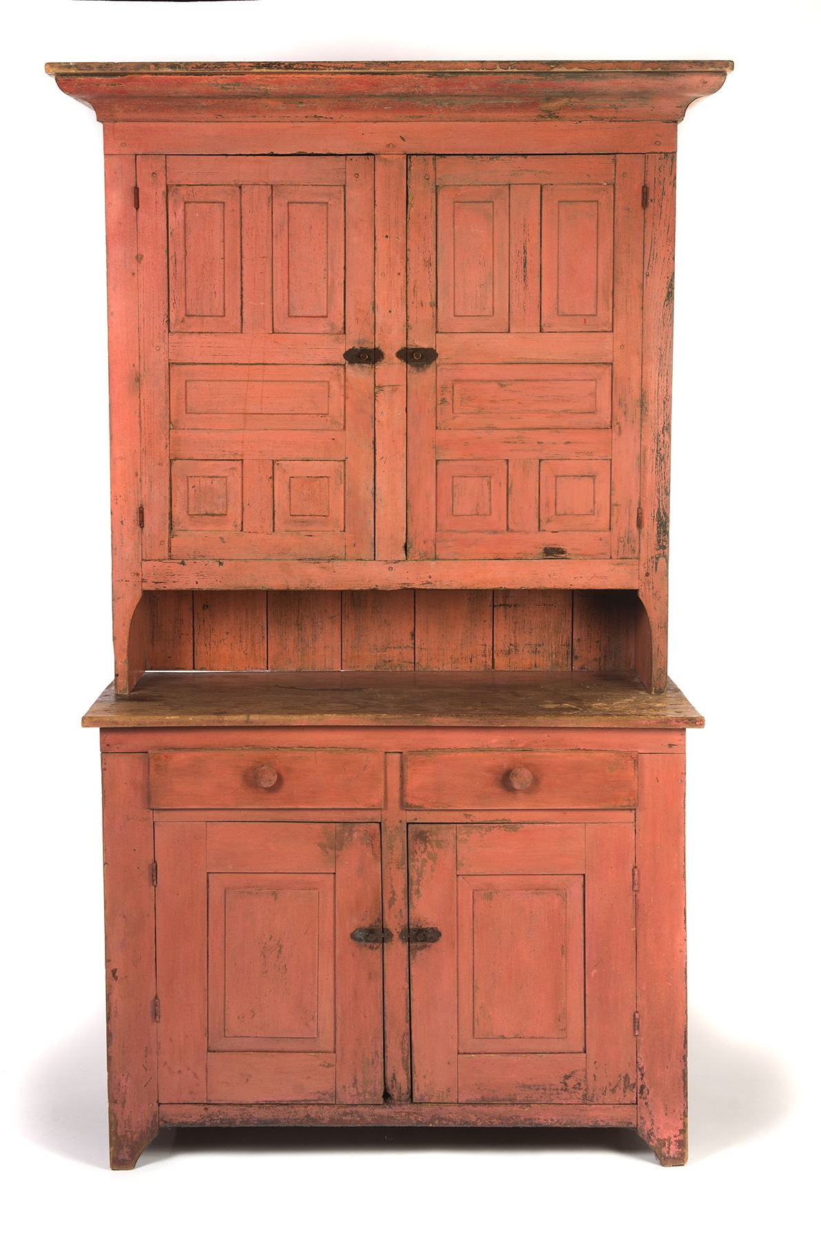 Recent Iron Pine Sideboards Inside American Painted Stepback Cupboard. Ca 1840 50, Pine. Two Piece (Gallery 13 of 20)