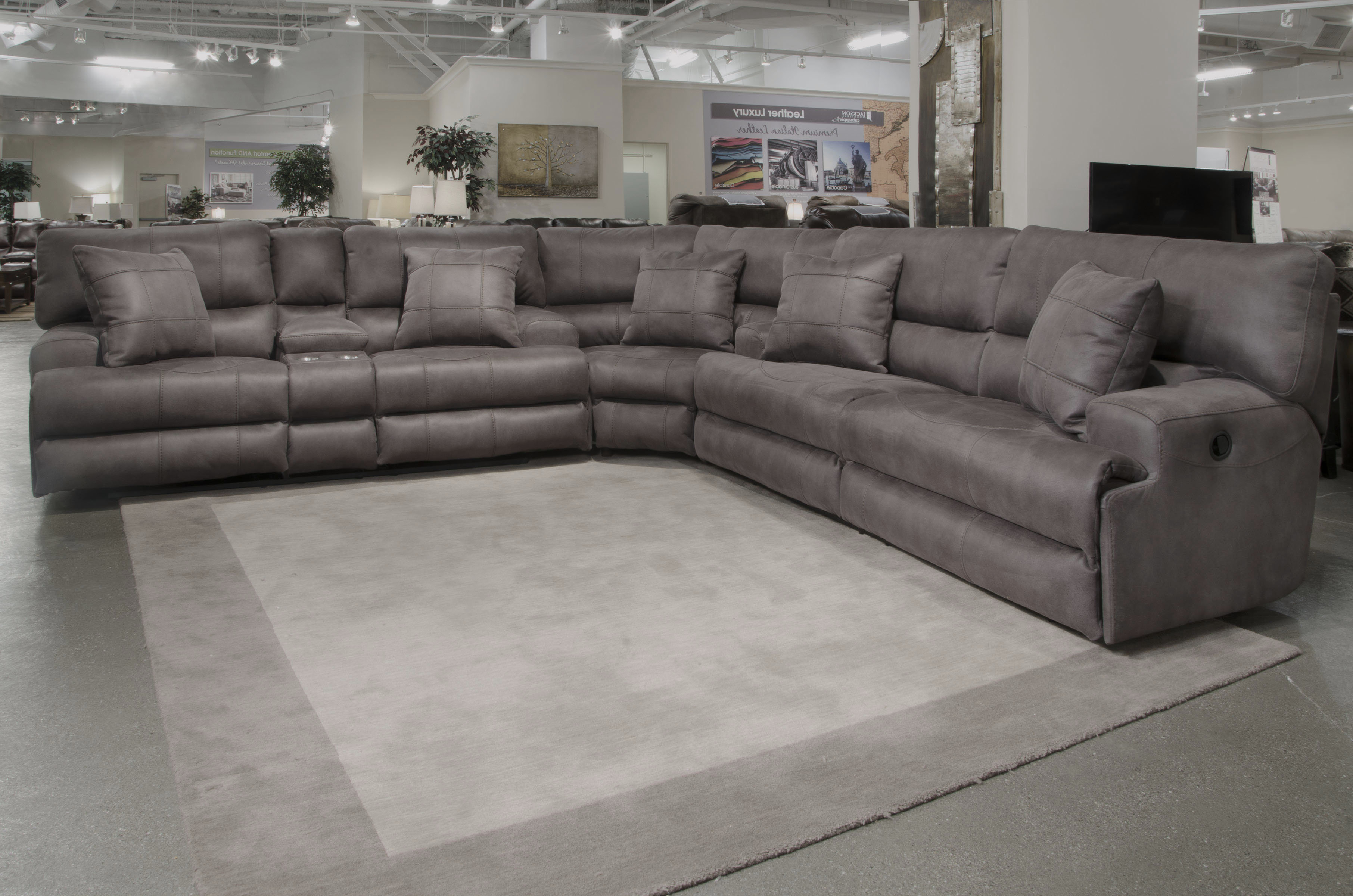 Recent Jackson 6 Piece Power Reclining Sectionals With Catnapper Monaco Reclining Sectional (View 14 of 20)