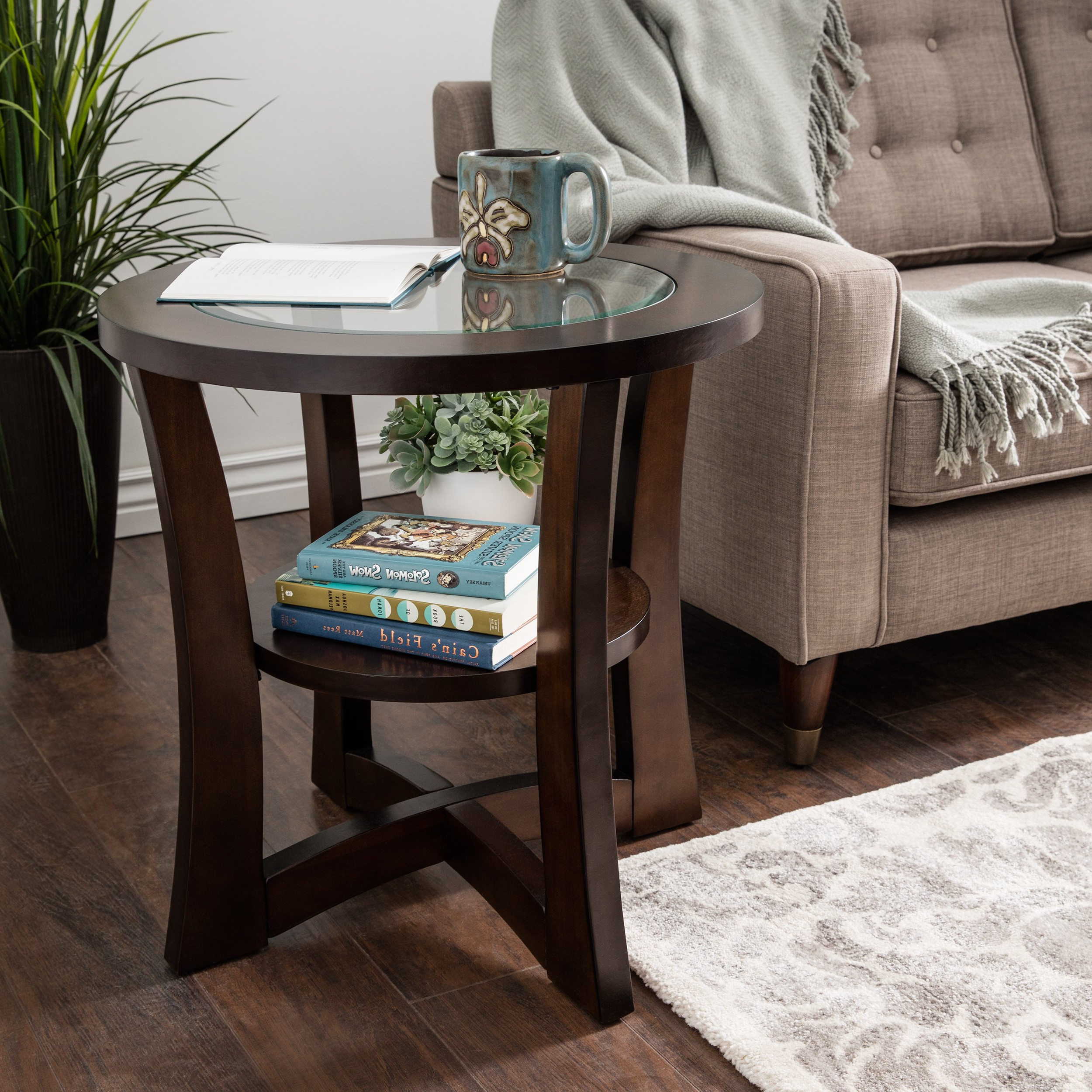 Recent Jonah Lift Top Cocktail Tables Pertaining To Shop Copper Grove Eclipse Espresso Glass Top End Table – Free (View 12 of 20)