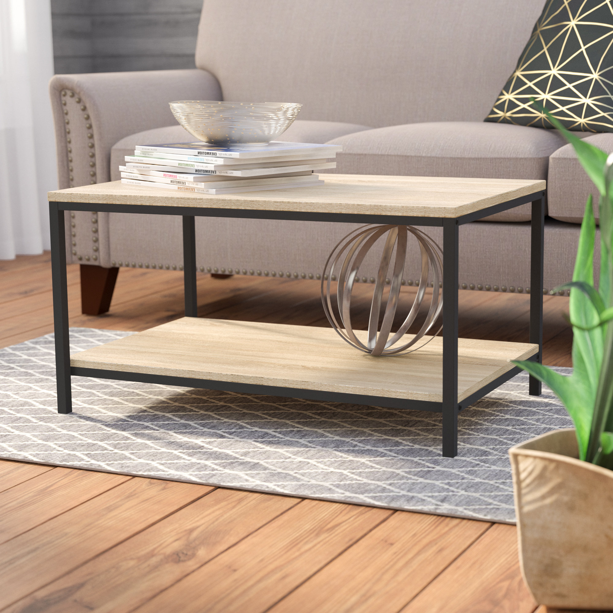 Recent Large Scale Chinese Farmhouse Coffee Tables Pertaining To Laurel Foundry Modern Farmhouse Ermont Coffee Table & Reviews (View 12 of 20)