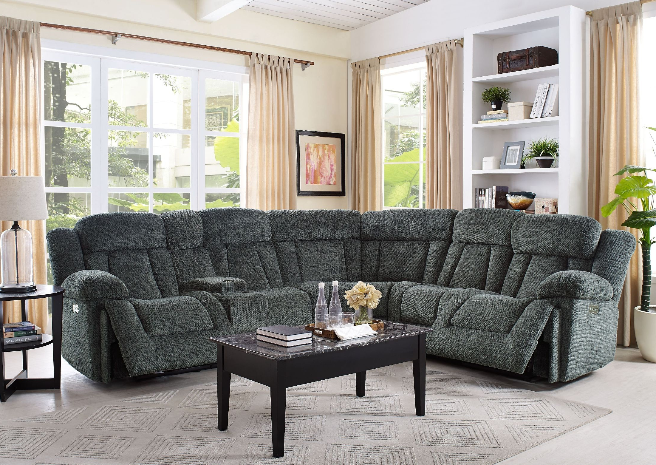 Recent Laura Junction Pewter Power Sectional From New Classic (View 5 of 20)