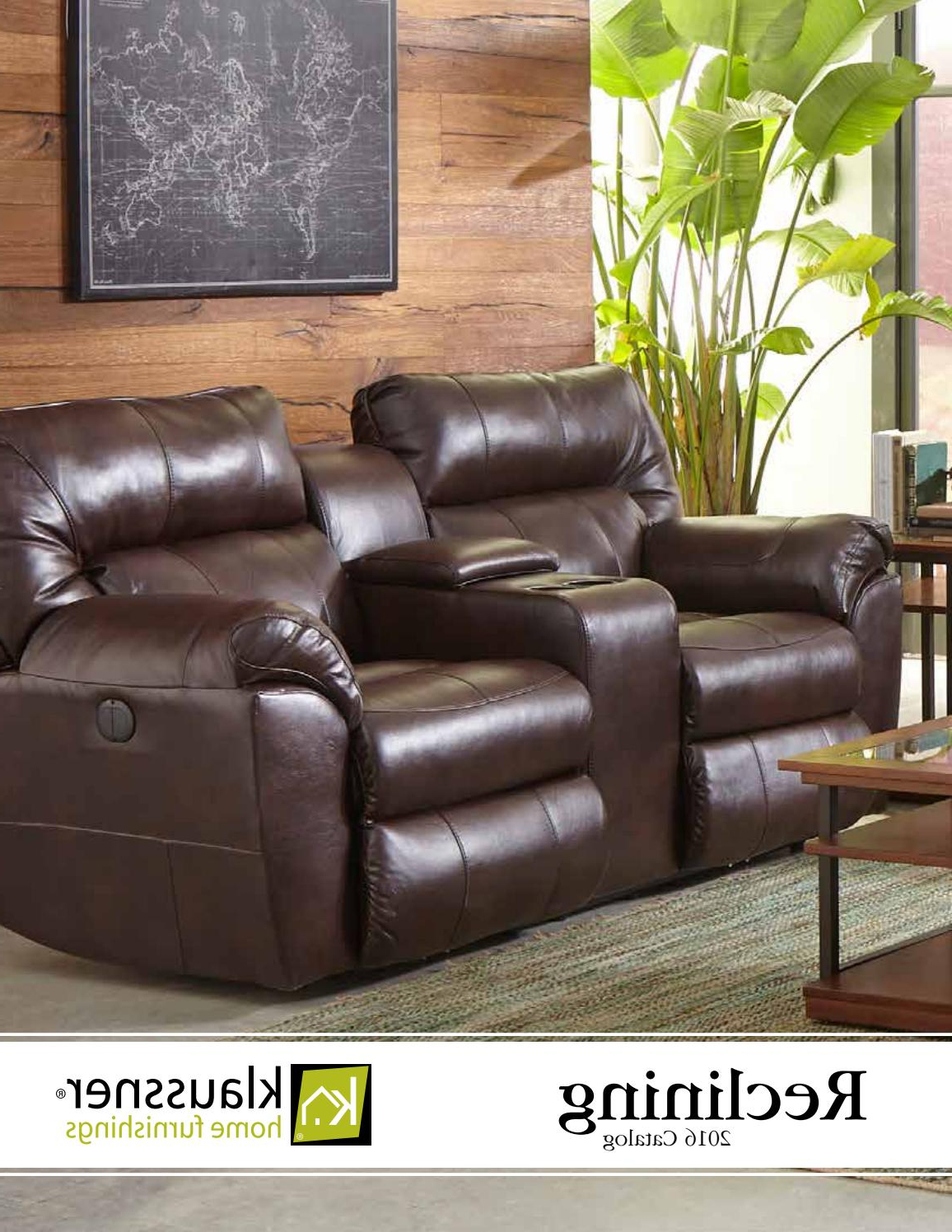 Recent Marcus Chocolate 6 Piece Sectionals With Power Headrest And Usb With Regard To Reclining 2016 Catalogklaussner Home Furnishings – Issuu (Gallery 15 of 20)
