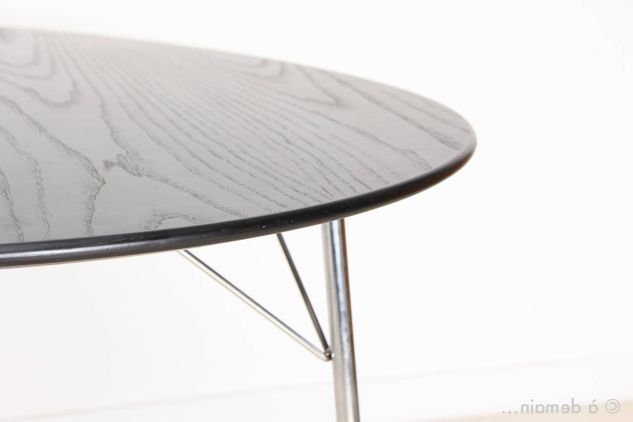 Recent Mid Century Modern Egg Tables Intended For Egg Dining Table With Three Ant Chairsarne Jacobsen, Edition Of (View 11 of 20)
