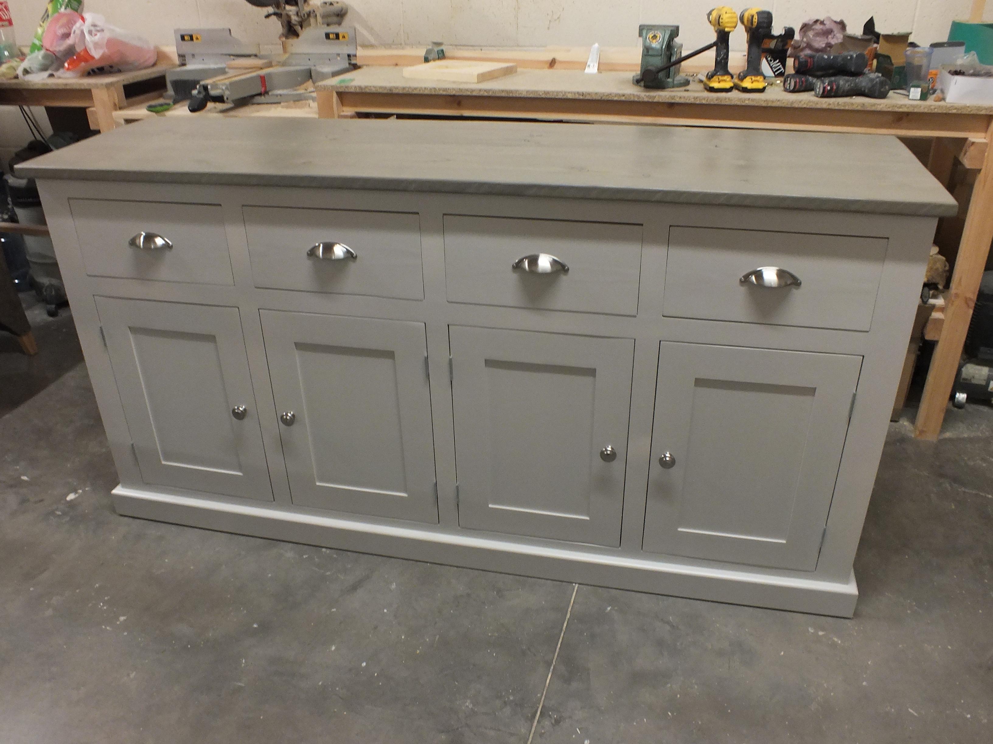 Recent Reclaimed Pine 4 Door Sideboards With Regard To Buckingham Painted 4 Door 4 Drawer Sideboard Reclaimed Top Light (View 8 of 20)