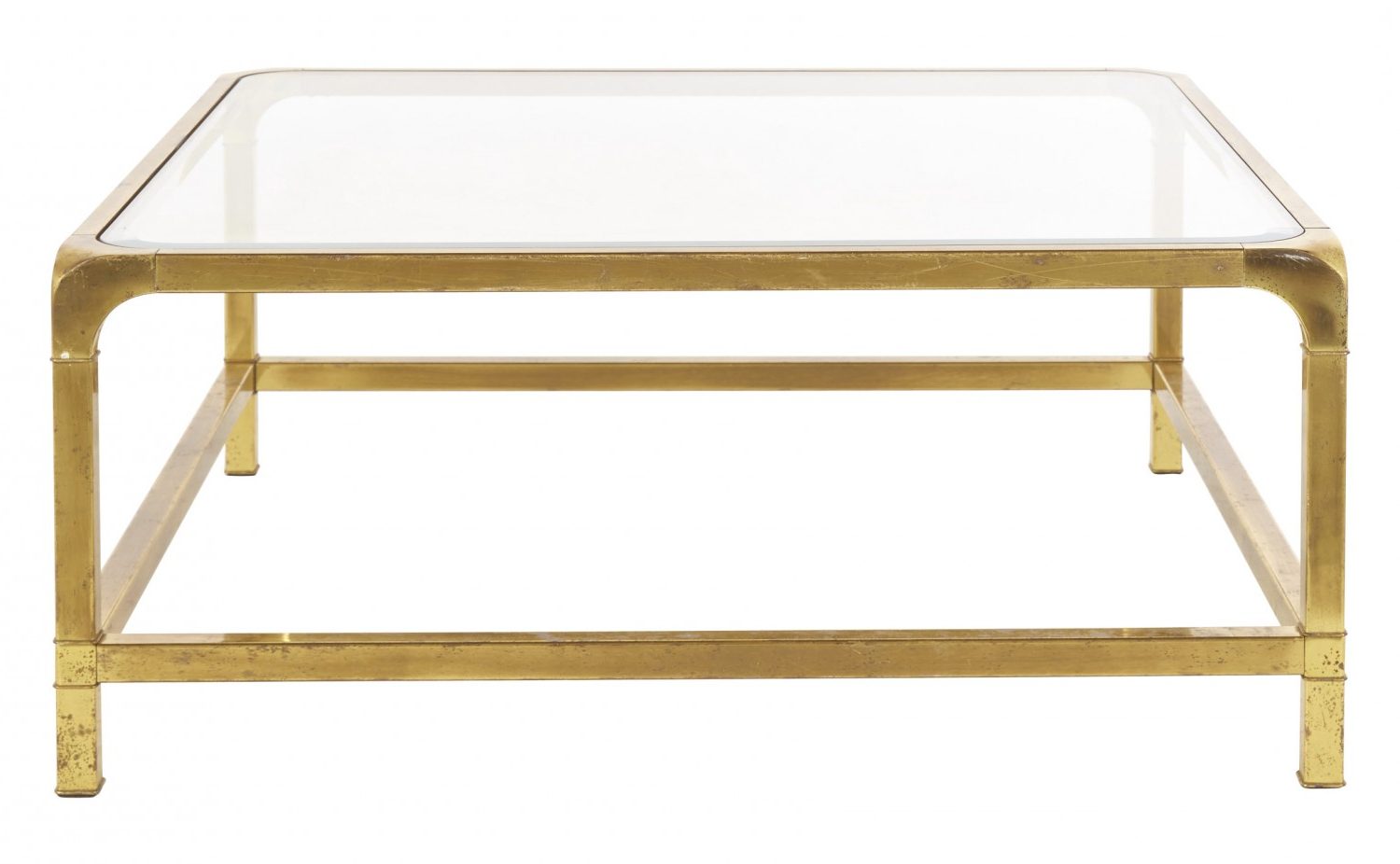 Recent Rectangular Brass Finish And Glass Coffee Tables Regarding Vintage Brass Mastercraft Coffee Table (View 11 of 20)