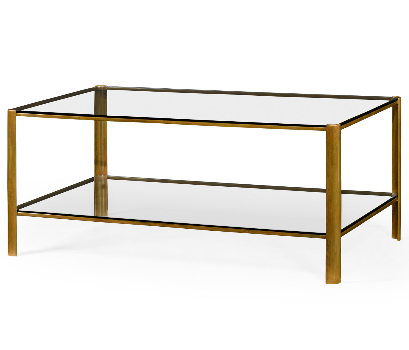 Recent Rectangular Coffee Tables With Brass Legs Pertaining To Brass & Glass Coffee Table (Gallery 1 of 20)