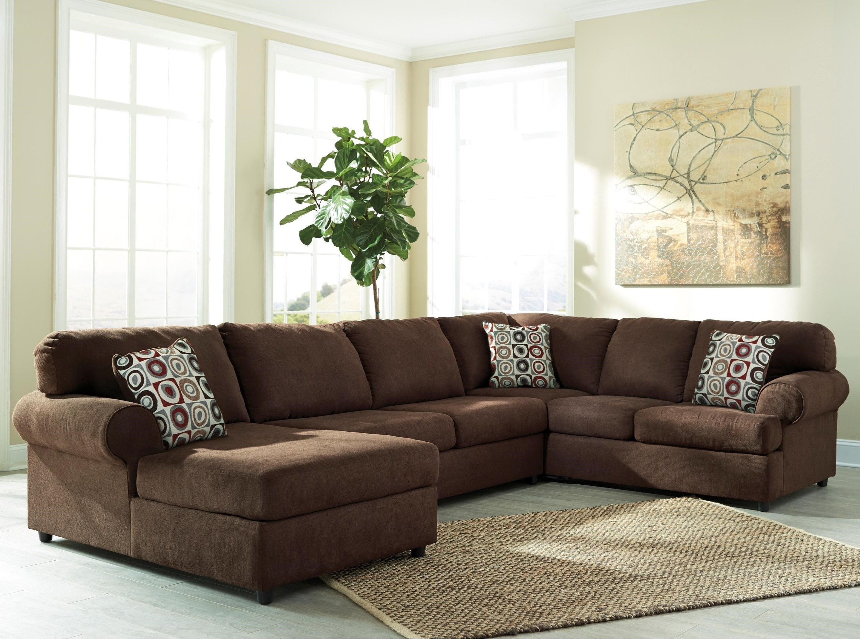 Recent Relaxing Chaise 3 Piece Sectional Slipcover Signature Design Regarding Sierra Down 3 Piece Sectionals With Laf Chaise (View 16 of 20)