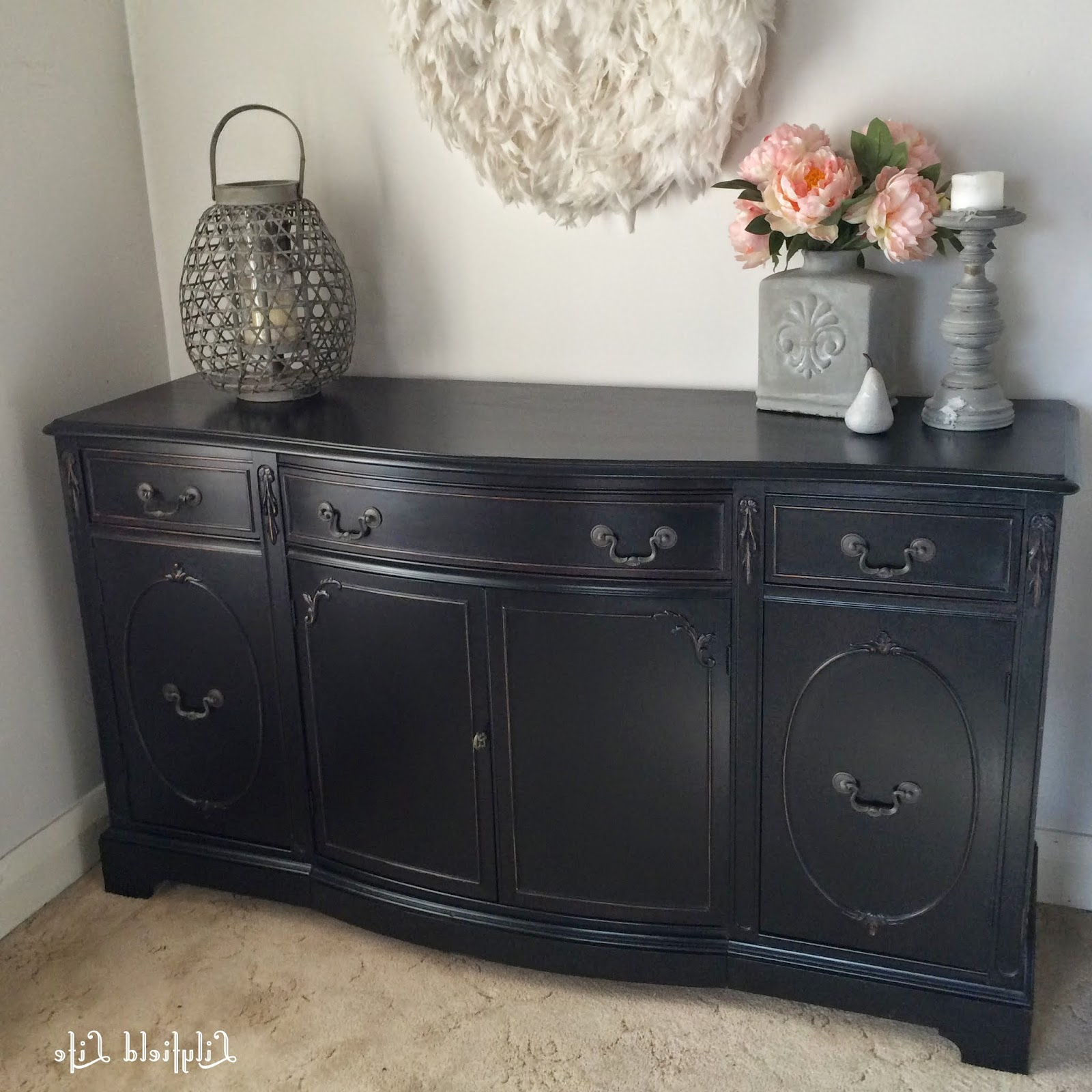 Recent Satin Black & Painted White Sideboards With Lilyfield Life: How To Paint Furniture Black Like A Boss (Gallery 12 of 20)