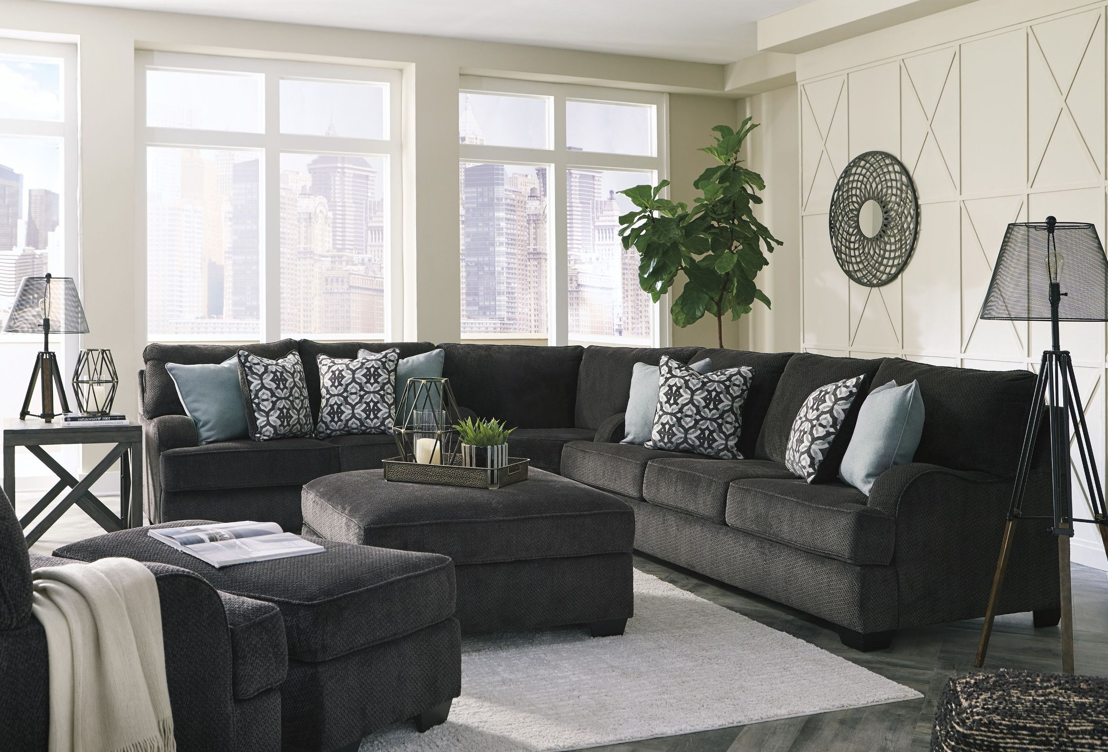Recent Signature Designashley Charenton Charcoal Sectional – Charenton With Sierra Foam Ii 3 Piece Sectionals (View 7 of 20)
