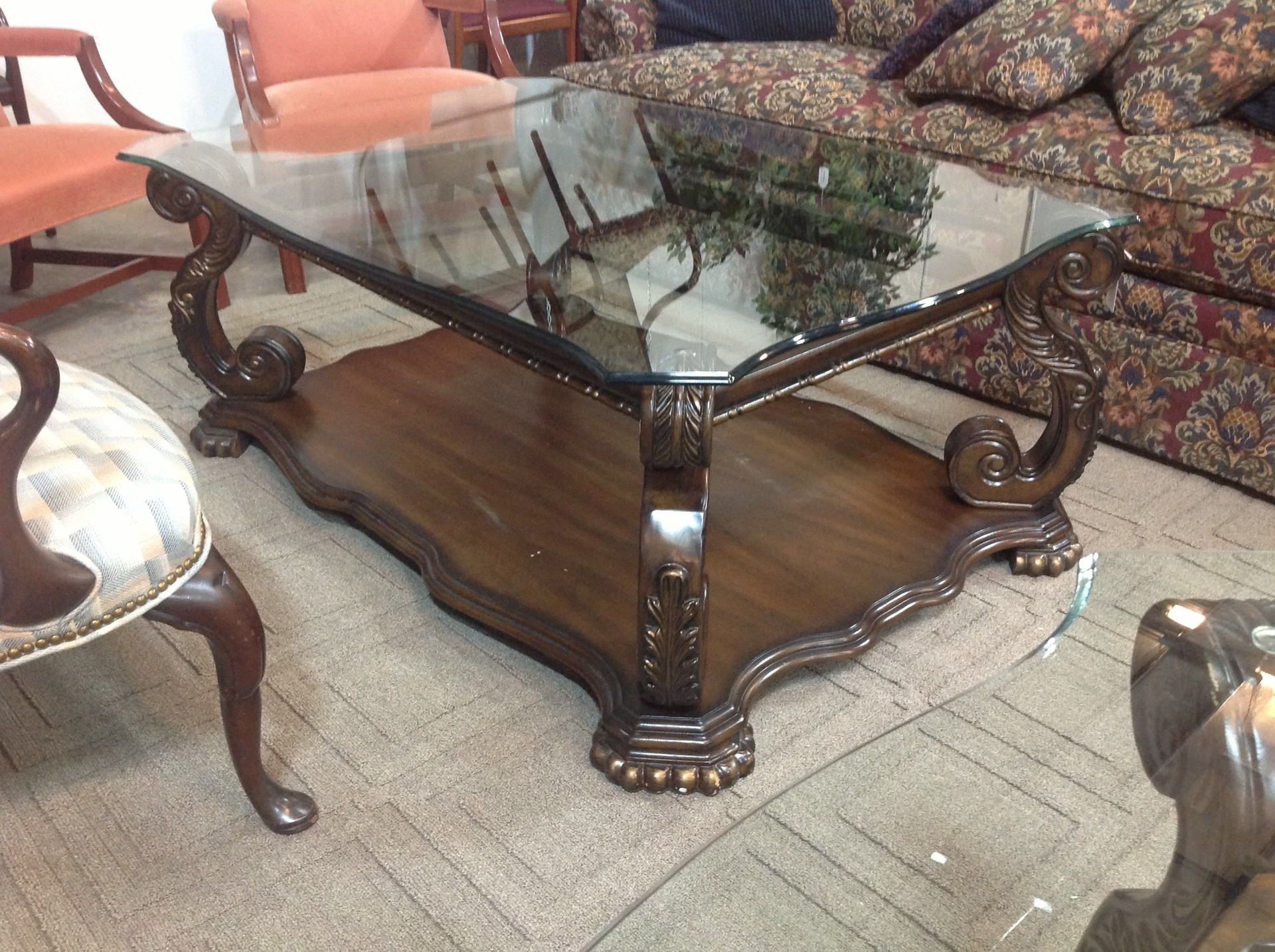 Recent Traditional Coffee Table Sets Glass Top – Thelightlaughed Pertaining To Traditional Coffee Tables (View 14 of 20)
