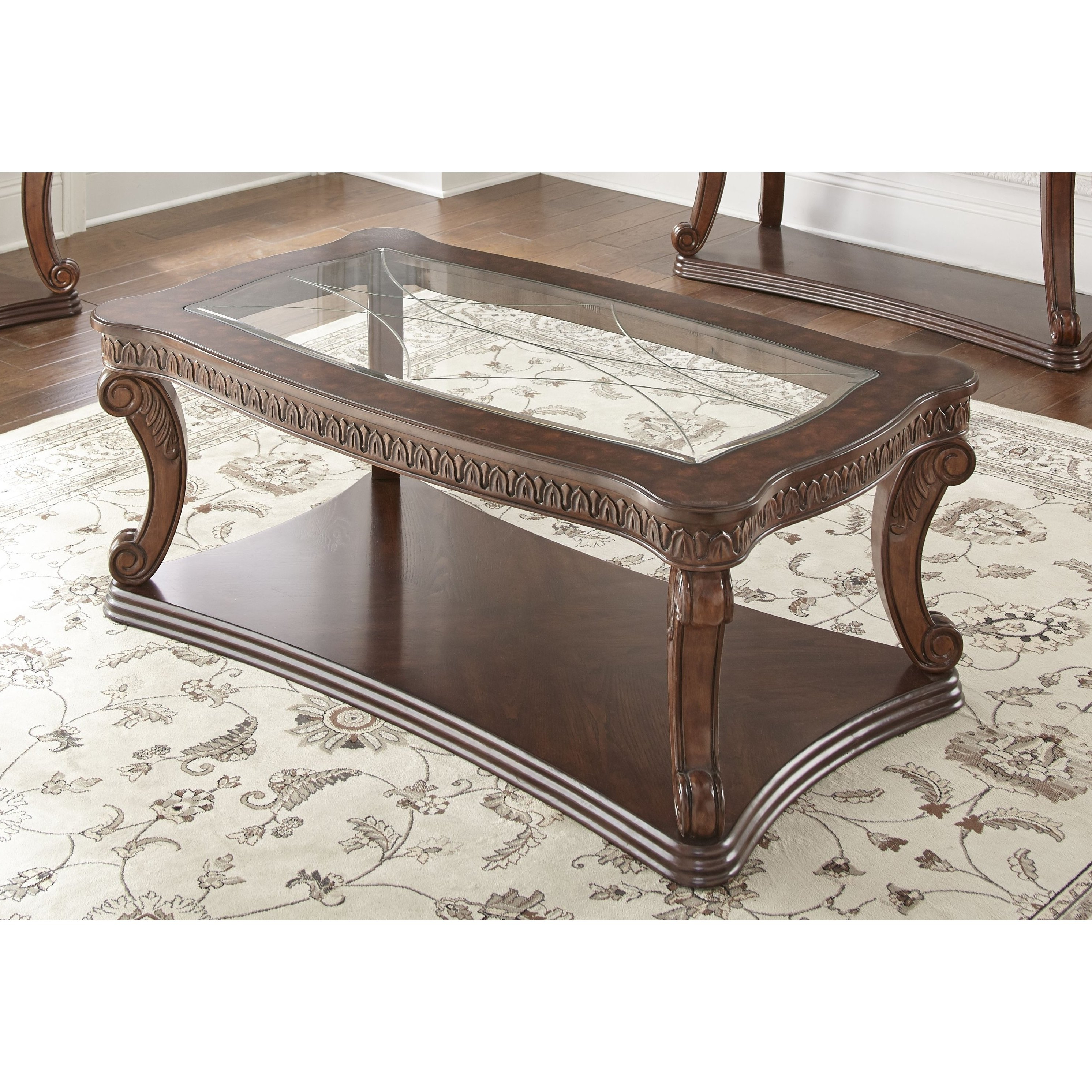 Recent Traditional Coffee Tables In Shop Isabella 52 Inch Traditional Coffee Tablegreyson Living (View 4 of 20)