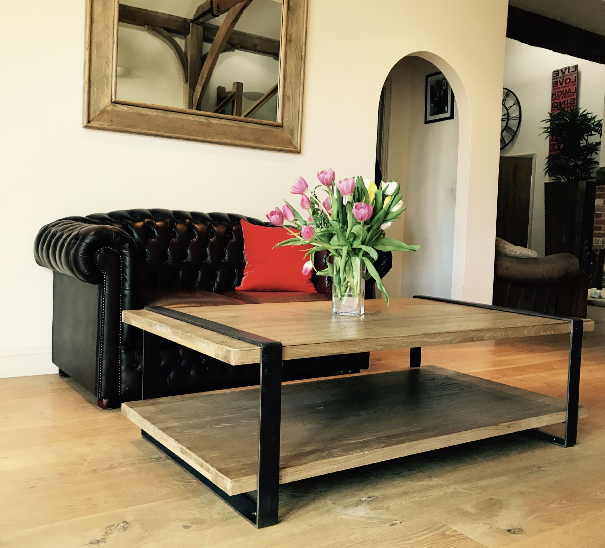 Reclaimed Elm Iron Coffee Tables Pertaining To Favorite Reclaimed Elm And Iron Coffee Table (View 19 of 20)