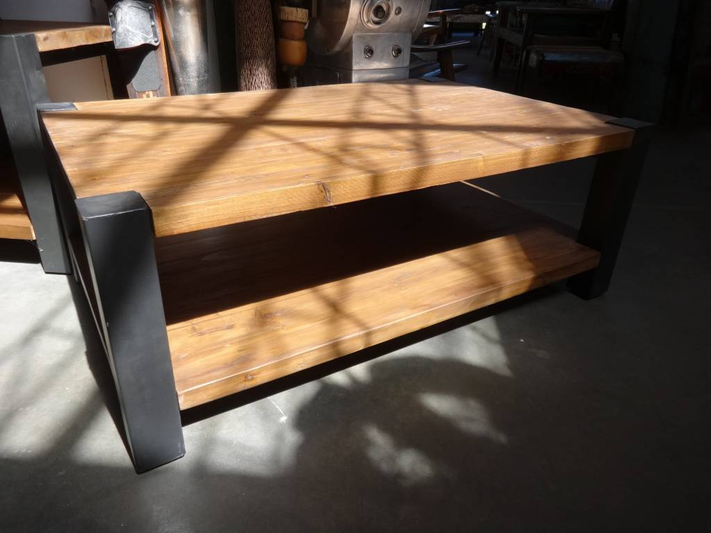 Reclaimed Pine And Iron Coffee Table – Sarasota Architectural Intended For Preferred Reclaimed Pine & Iron Coffee Tables (View 2 of 20)
