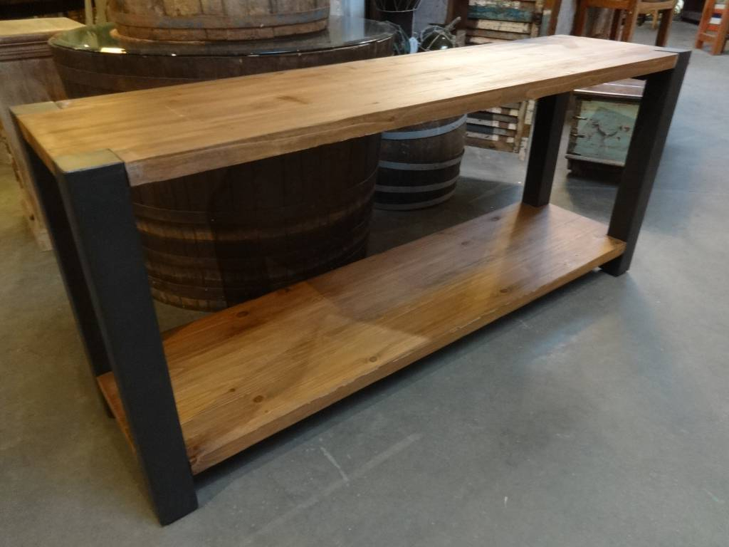 Reclaimed Pine And Iron Console Table – Sarasota Architectural With Regard To Latest Reclaimed Pine & Iron Coffee Tables (View 16 of 20)