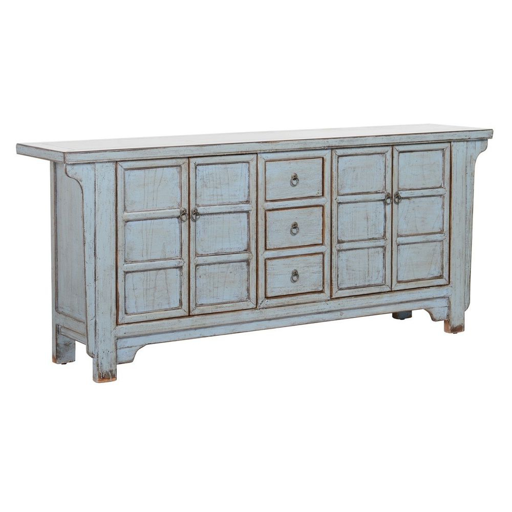 """Reclaimed Pine & Iron 4 Door Sideboards With Best And Newest 77"""" Sideboard Cabinet Solid Reclaimed Pine 4 Door 3 Drawer Iron (View 11 of 20)"""