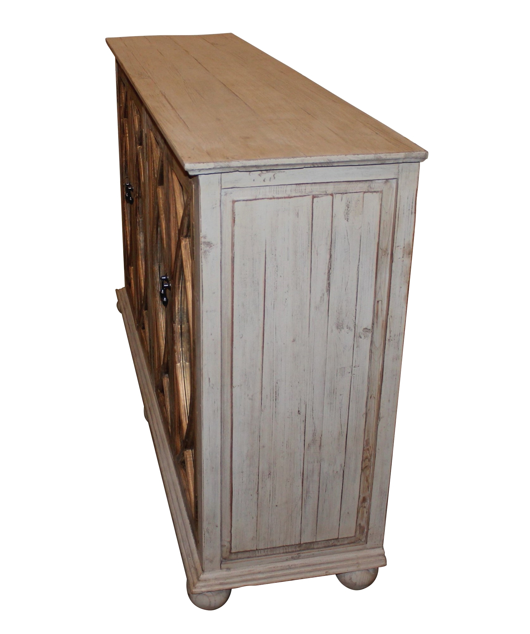 "Reclaimed Pine & Iron 4 Door Sideboards With Regard To Current Grayson Sideboard 65"" – White X White – Antique And Fine Decor For (Gallery 13 of 20)"