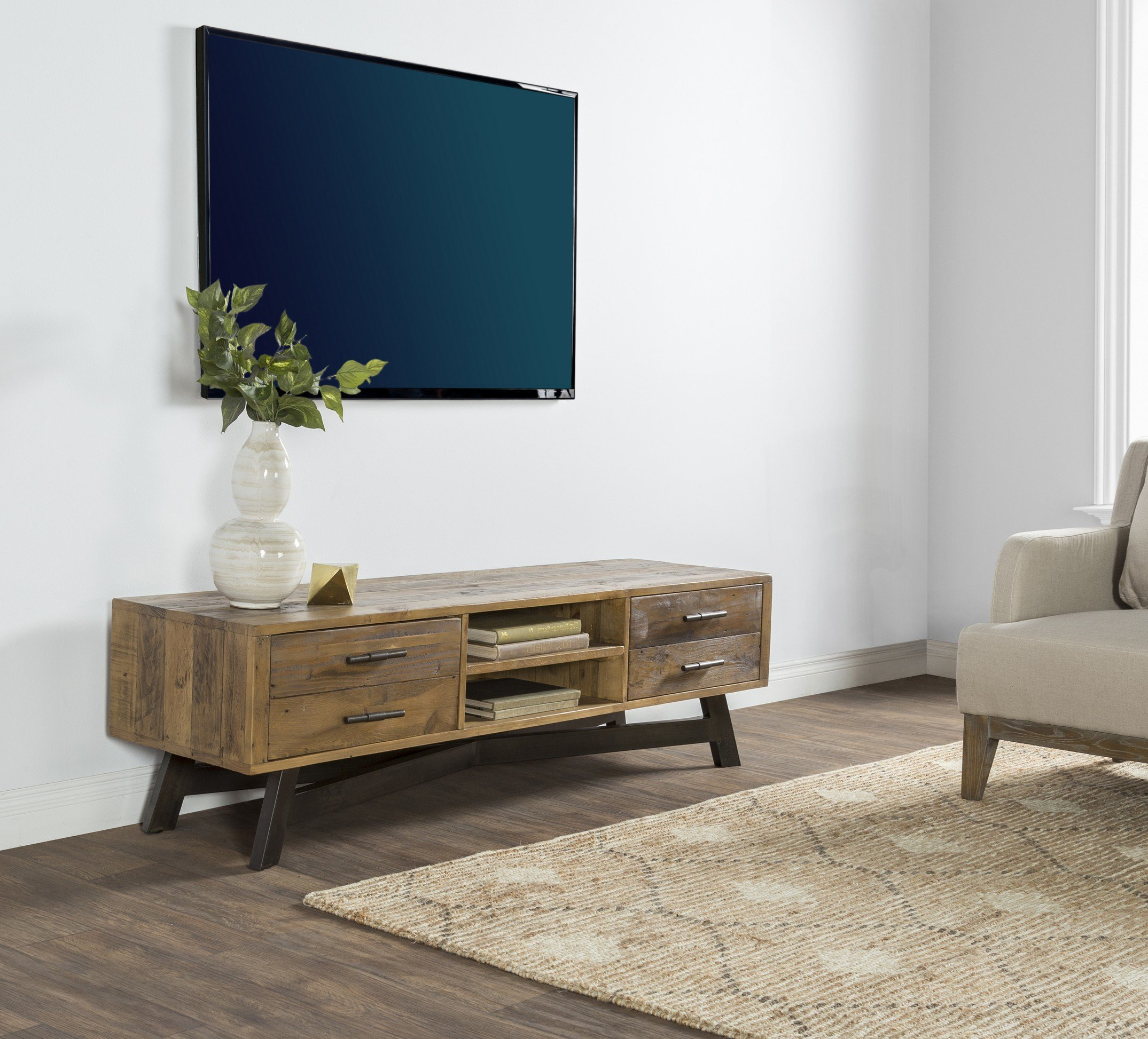 """Reclaimed Pine & Iron 72 Inch Sideboards Regarding Most Popular Trent Austin Design Holden Tv Stand For Tvs Up To 65"""" & Reviews (View 7 of 20)"""