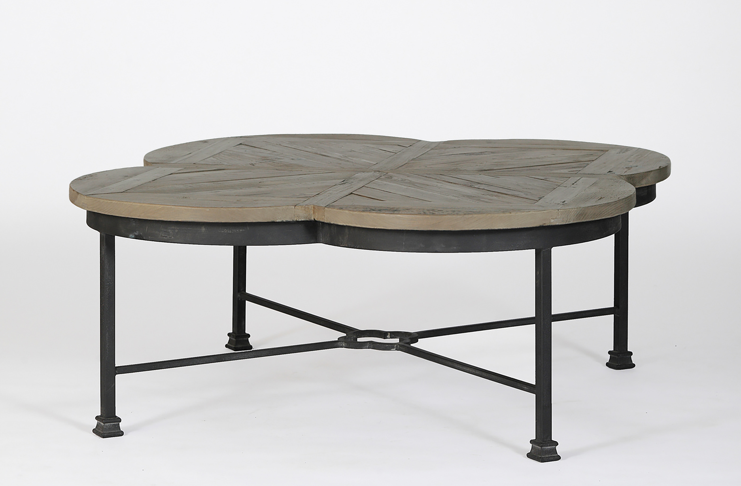 Reclaimed Pine & Iron Coffee Tables Inside Famous Edwin Quatrefoil Coffee Table (View 14 of 20)