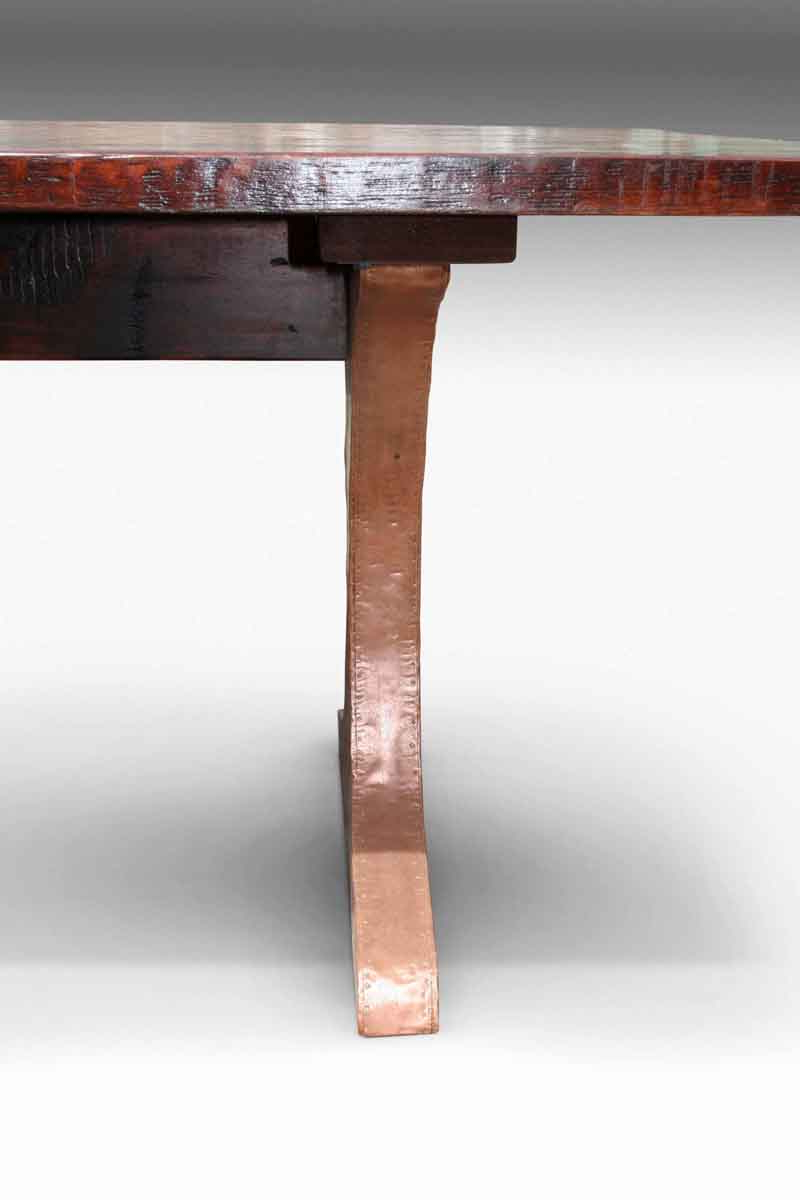 Reclaimed Pine & Iron Coffee Tables Throughout Most Recently Released Reclaimed White Pine Table With Copper Clad Legs (View 15 of 20)