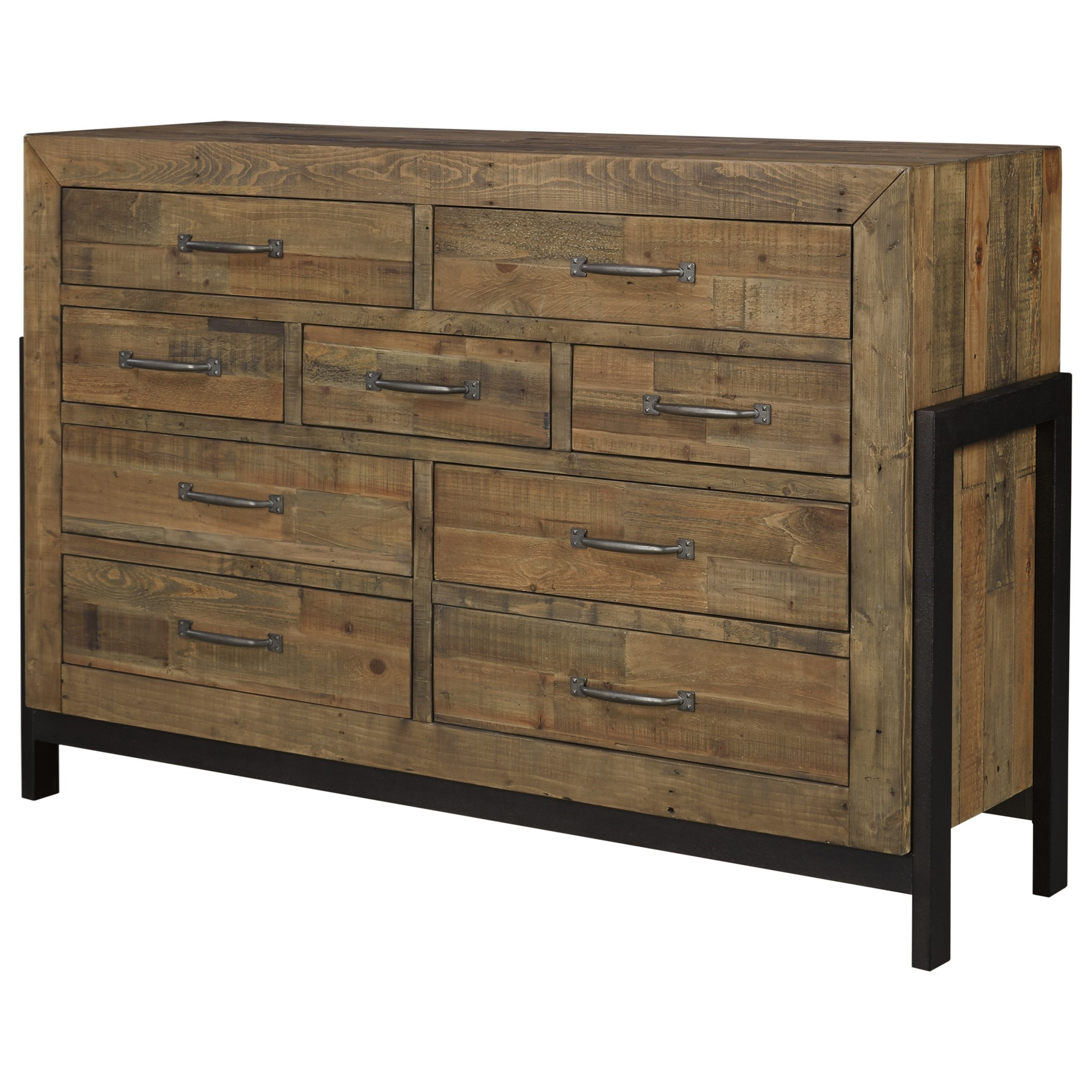 Reclaimed Pine Solid Wood Dresser With Metal Framesignature Regarding Most Up To Date Reclaimed Sideboards With Metal Panel (Gallery 20 of 20)