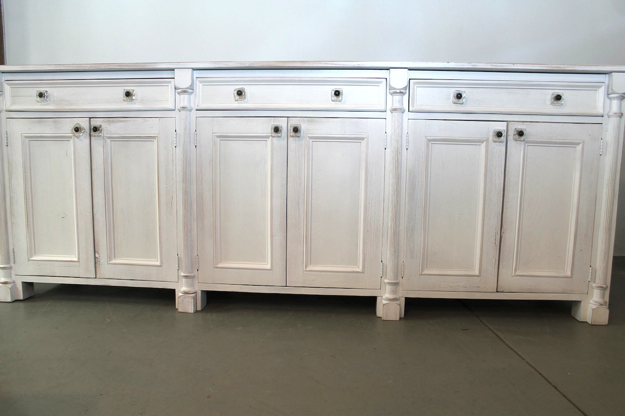 Reclaimed Sideboards With Metal Panel Pertaining To Most Current White Sideboard Made From Reclaimed Wood – Ecustomfinishes (Gallery 13 of 20)