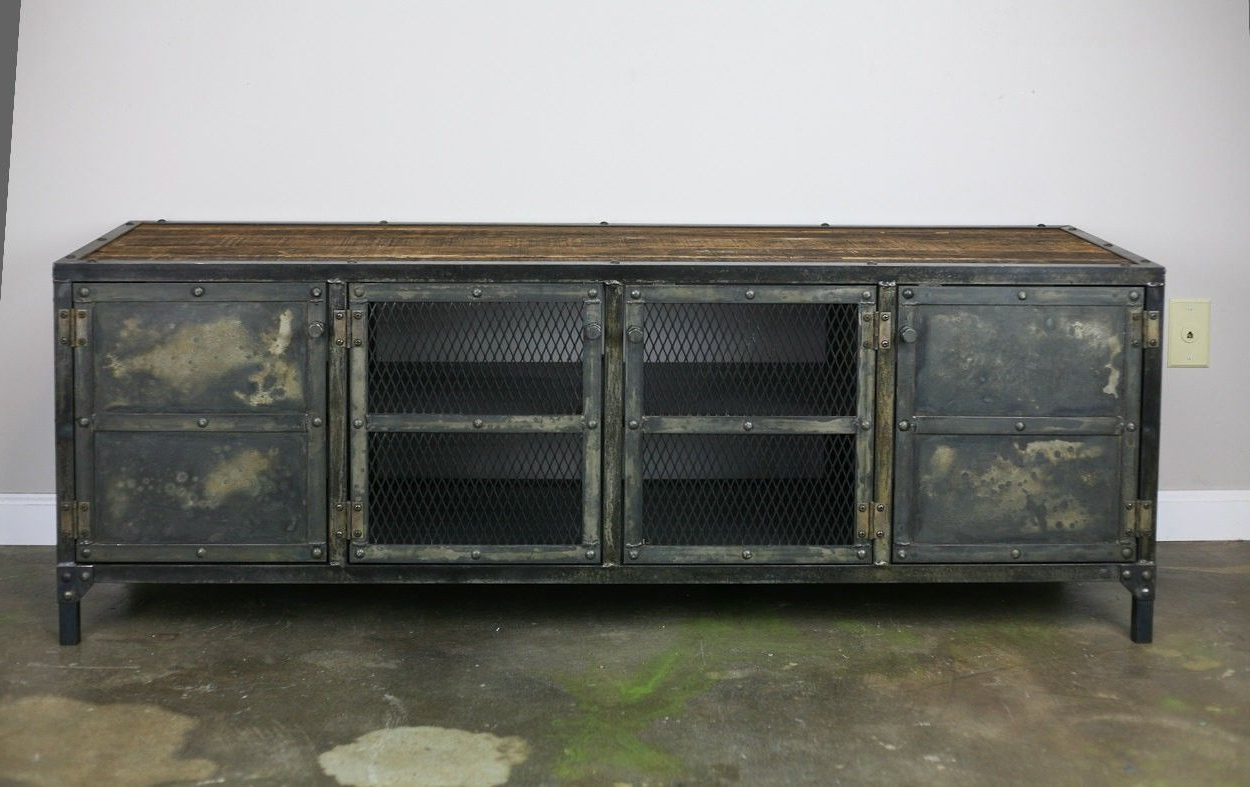 Reclaimed Wood Sideboard From Wine Cabinet — Rocket Uncle Rocket Uncle In 2019 Metal Framed Reclaimed Wood Sideboards (View 15 of 20)