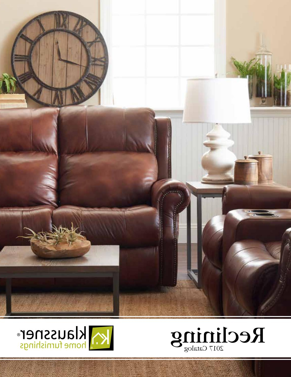 Reclining 2017 Catalogklaussner Home Furnishings – Issuu Pertaining To Most Current Marcus Grey 6 Piece Sectionals With  Power Headrest & Usb (View 18 of 20)