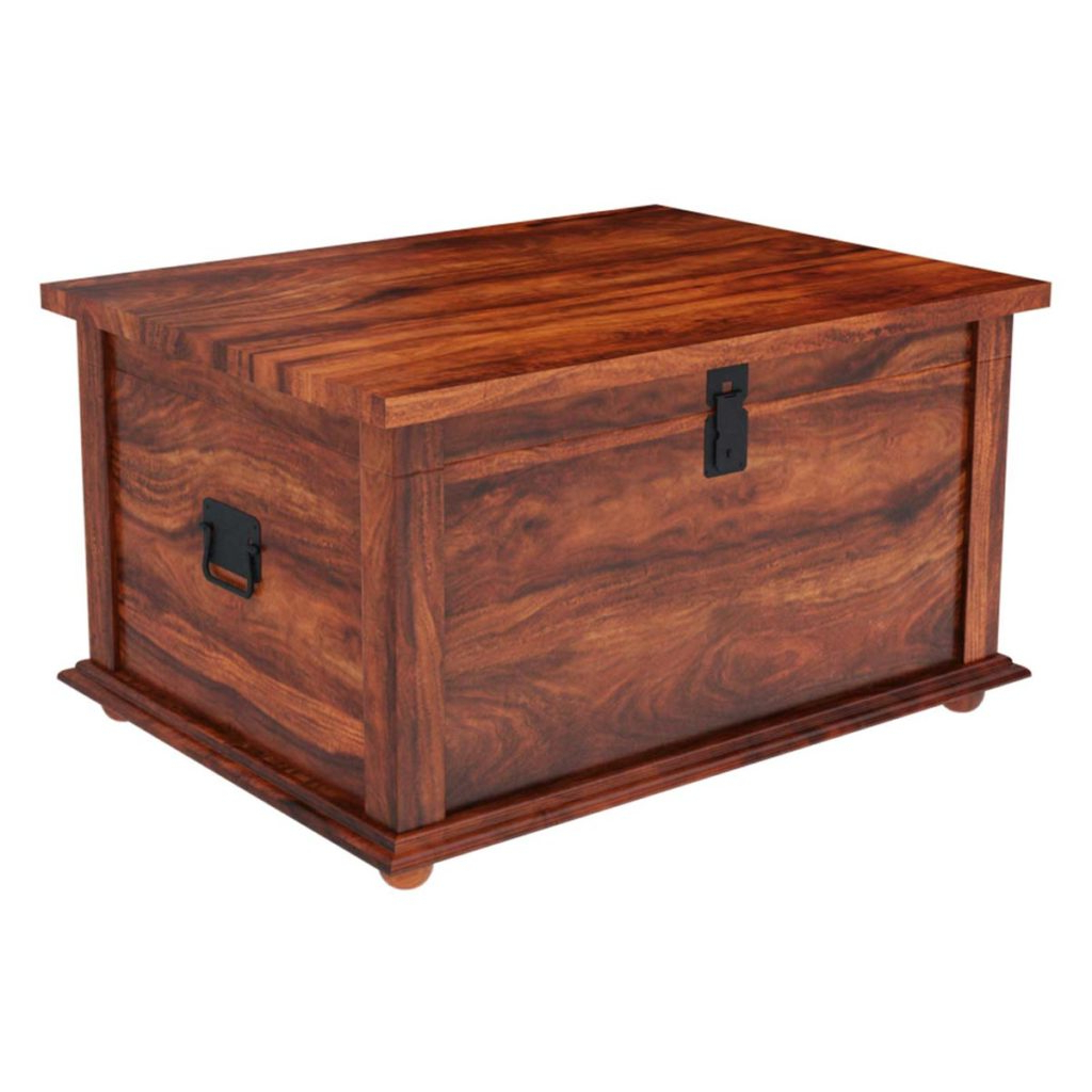 Rectangular Barbox Coffee Tables Intended For Popular Primitive Wood Storage Grinnell Storage Chest Trunk Coffee Table (Gallery 11 of 20)