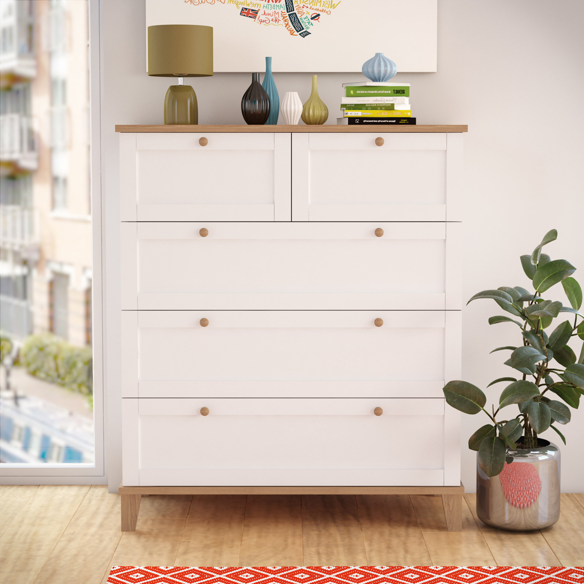 Riley Ave. Kamryn 5 Drawer Chest & Reviews (Gallery 10 of 20)