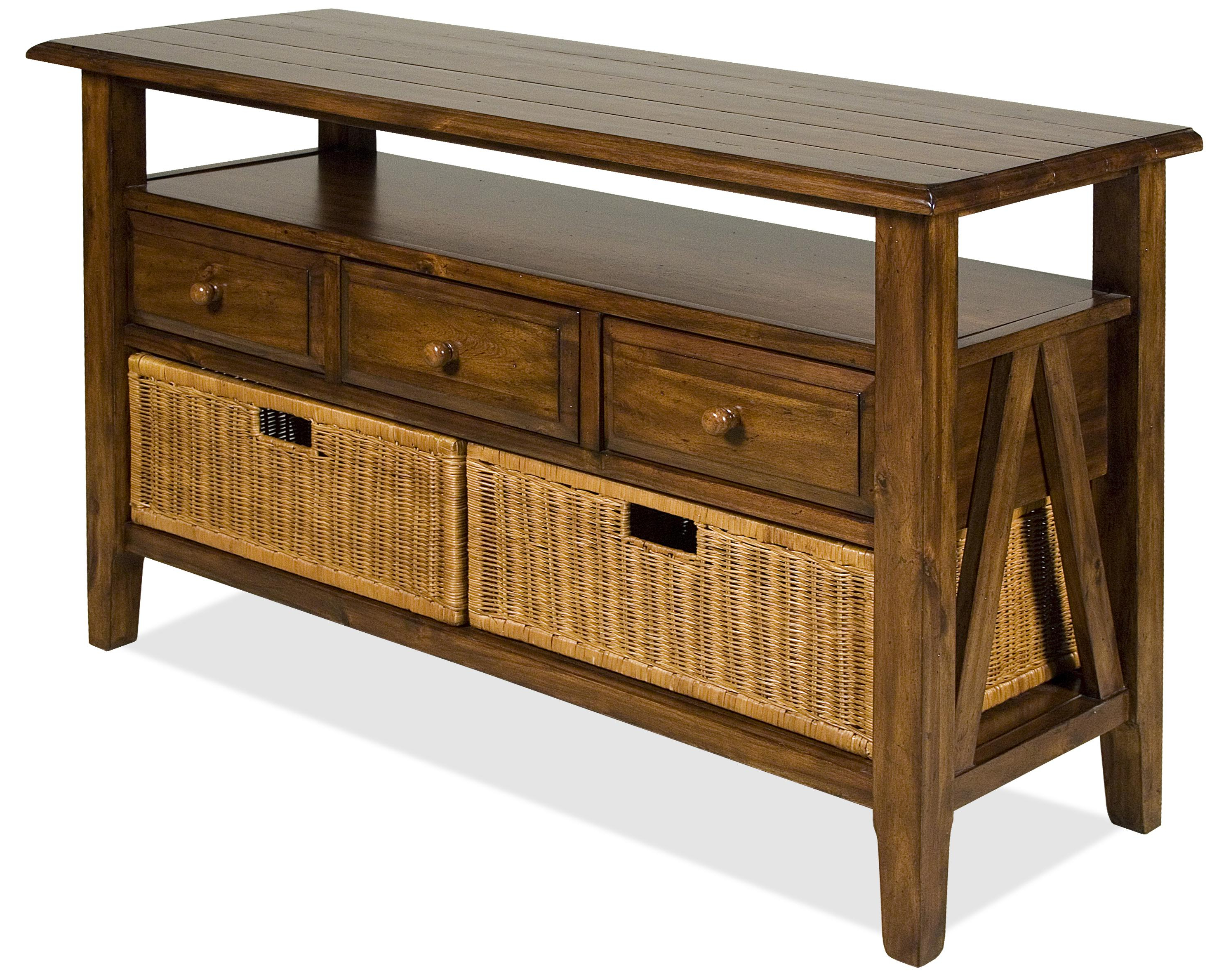 Riverside Furniture Claremont 3 Drawer Console Table With Storage Within Recent Calhoun Sideboards (View 16 of 20)