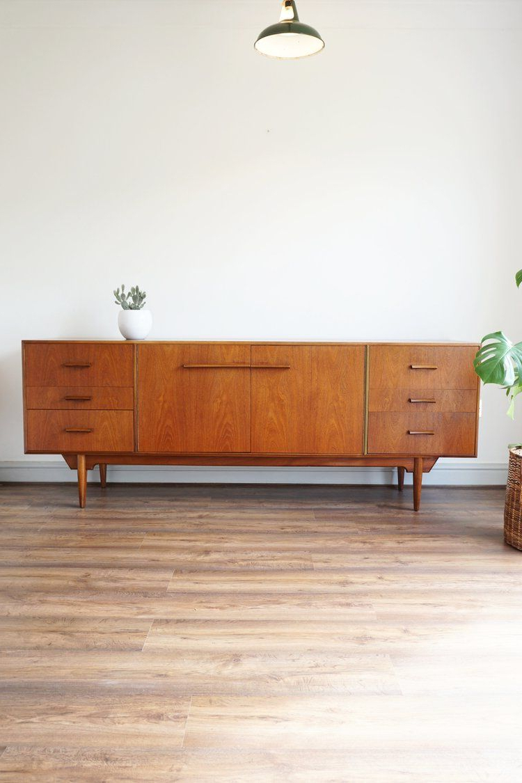 "Rossi Large Sideboards Regarding Trendy Rare C1960 Mcintosh ""troon"" Teak Sideboardvalentino Rossi (Gallery 1 of 20)"