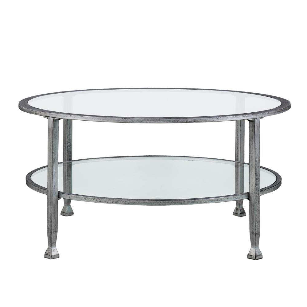 Round – Coffee Tables – Accent Tables – The Home Depot Intended For Latest Weaver Dark Rectangle Cocktail Tables (View 11 of 20)